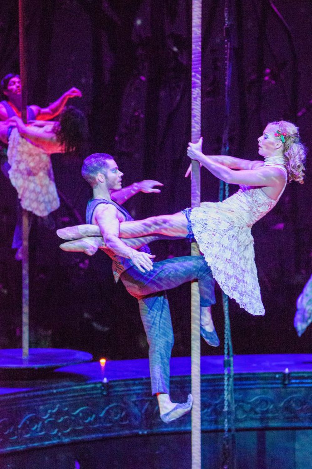 """Springville's BJ Erdmann, shown here in a Cavalia handout photo, and fellow aerialist Chelsea Teel will be featured on the """"Tonight Show"""" on NBC tonight."""