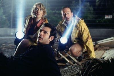 Laura Dern, Jeff Goldblum and Bob Peck star in 'Jurassic Park.'
