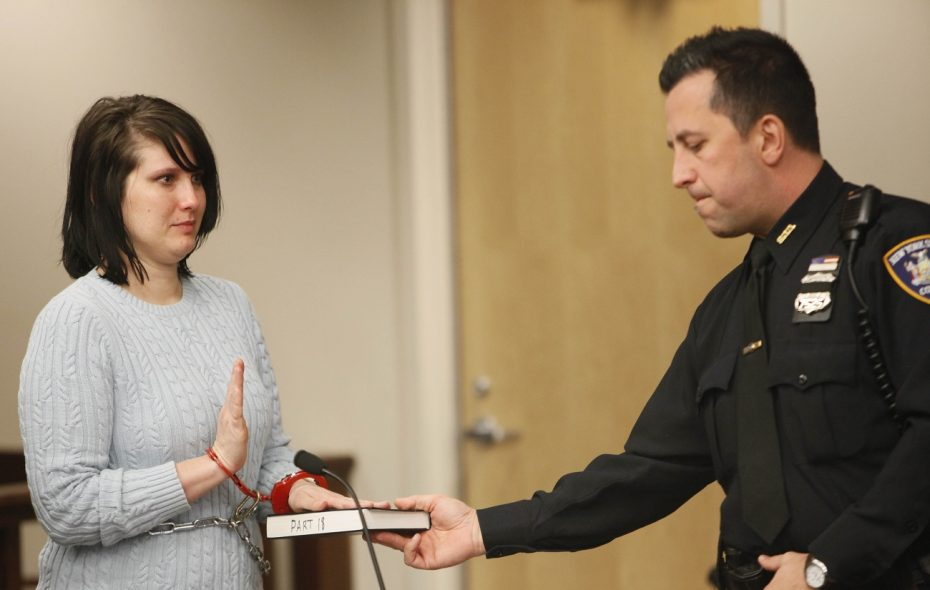 Cara L. Dickey, a former South Buffalo Charter School teacher, admitted she failed to register as a sex offender. (Derek Gee/News file photo)