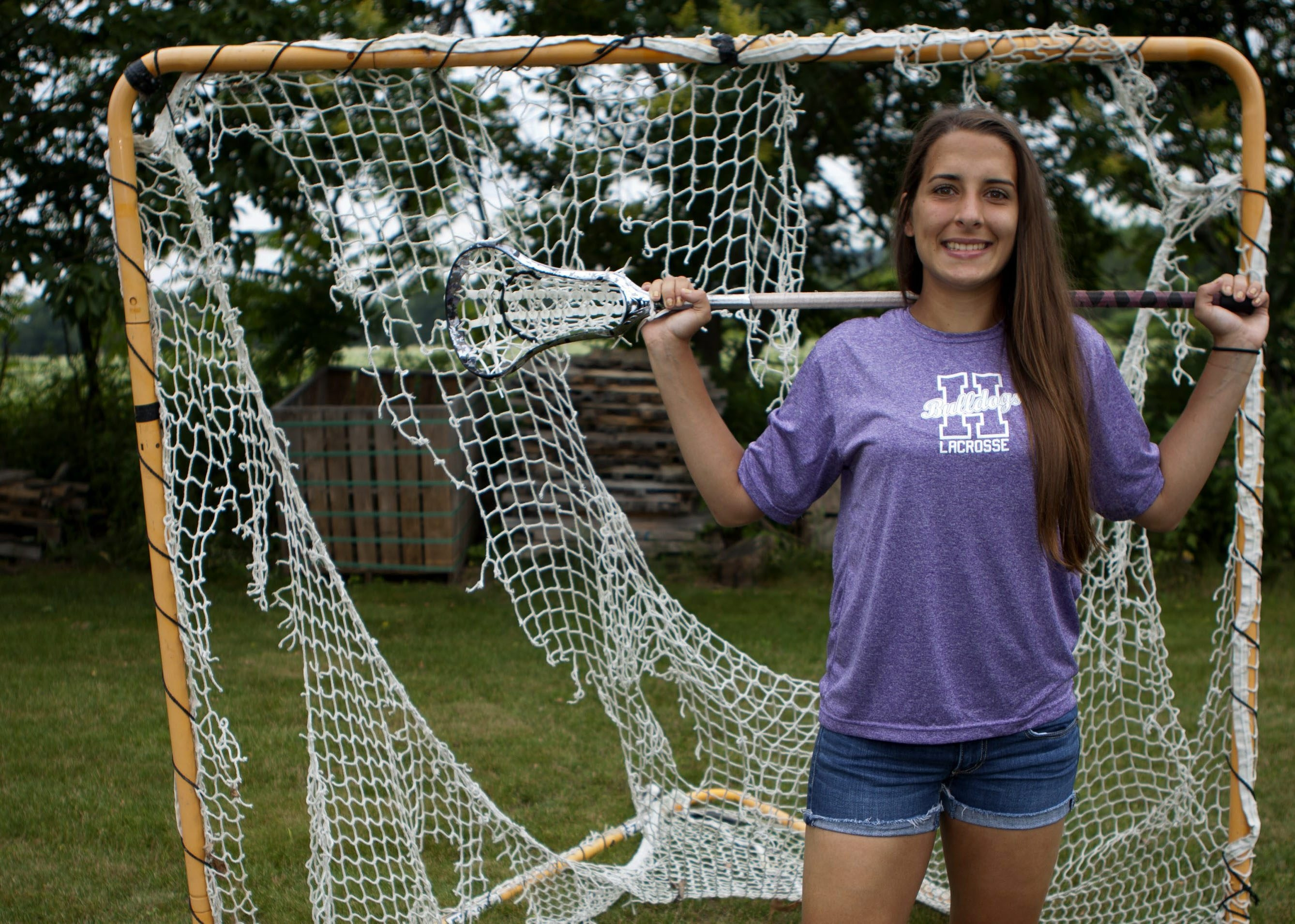 Megan Mikolajek of Hamburg is this year's winner of the Tom Borrelli Memorial Award as the best girls high school lacrosse senior in Western New York. (Matthew Masin / Buffalo News)