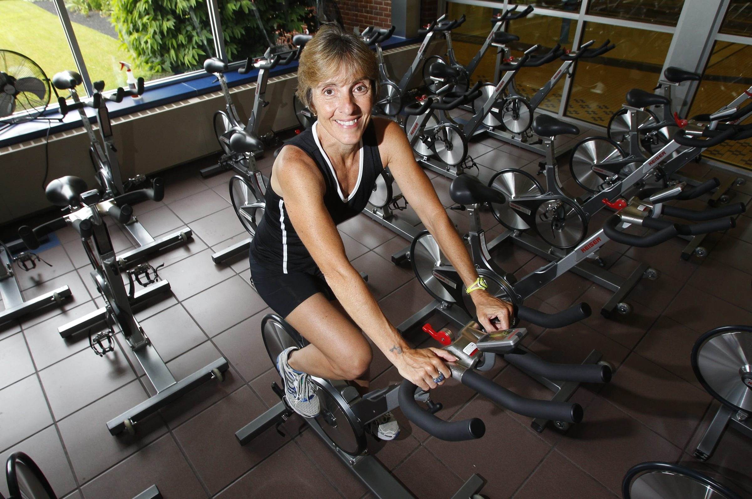 Carol DeNysschen, associate professor in dietetics and nutrition, believes in physical activity and healthy eating to promote good health.