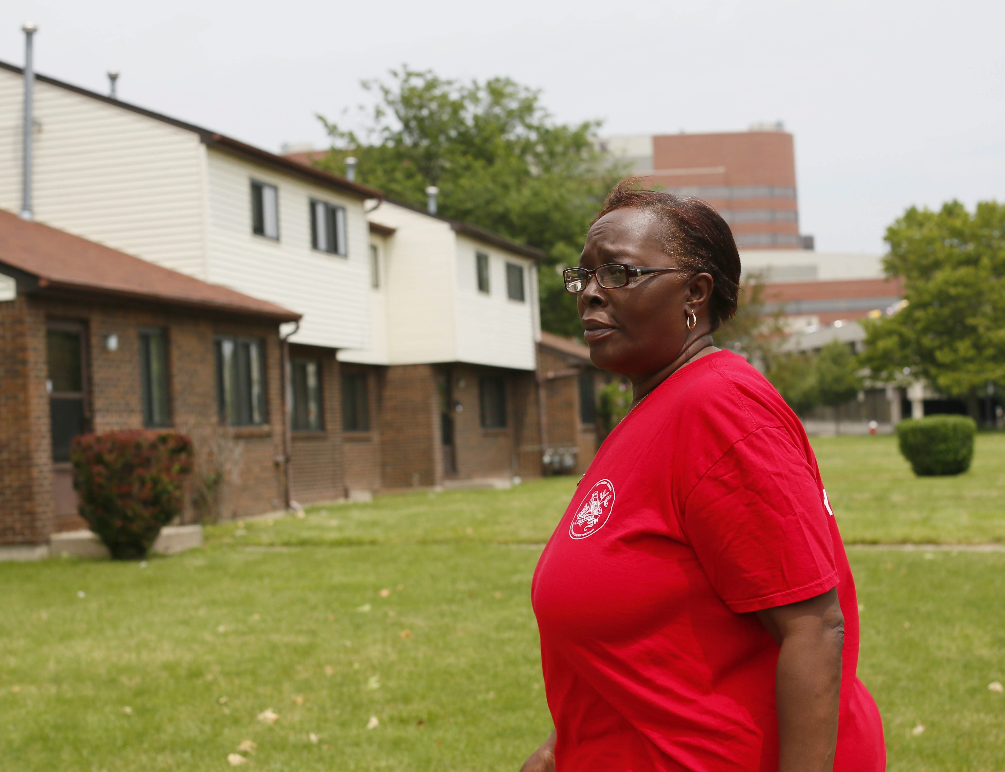 Lorraine Chambley has lived in McCarley Gardens for the last 18 years. If the complex is sold, she will have to find a new home. (Derek Gee/Buffalo News)