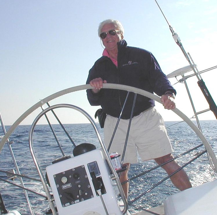 Photo shows the late Jack Beatty, doing what he loved to do. A lifelong sailor, Beatty died in 2001 after losing his battle with cancer.