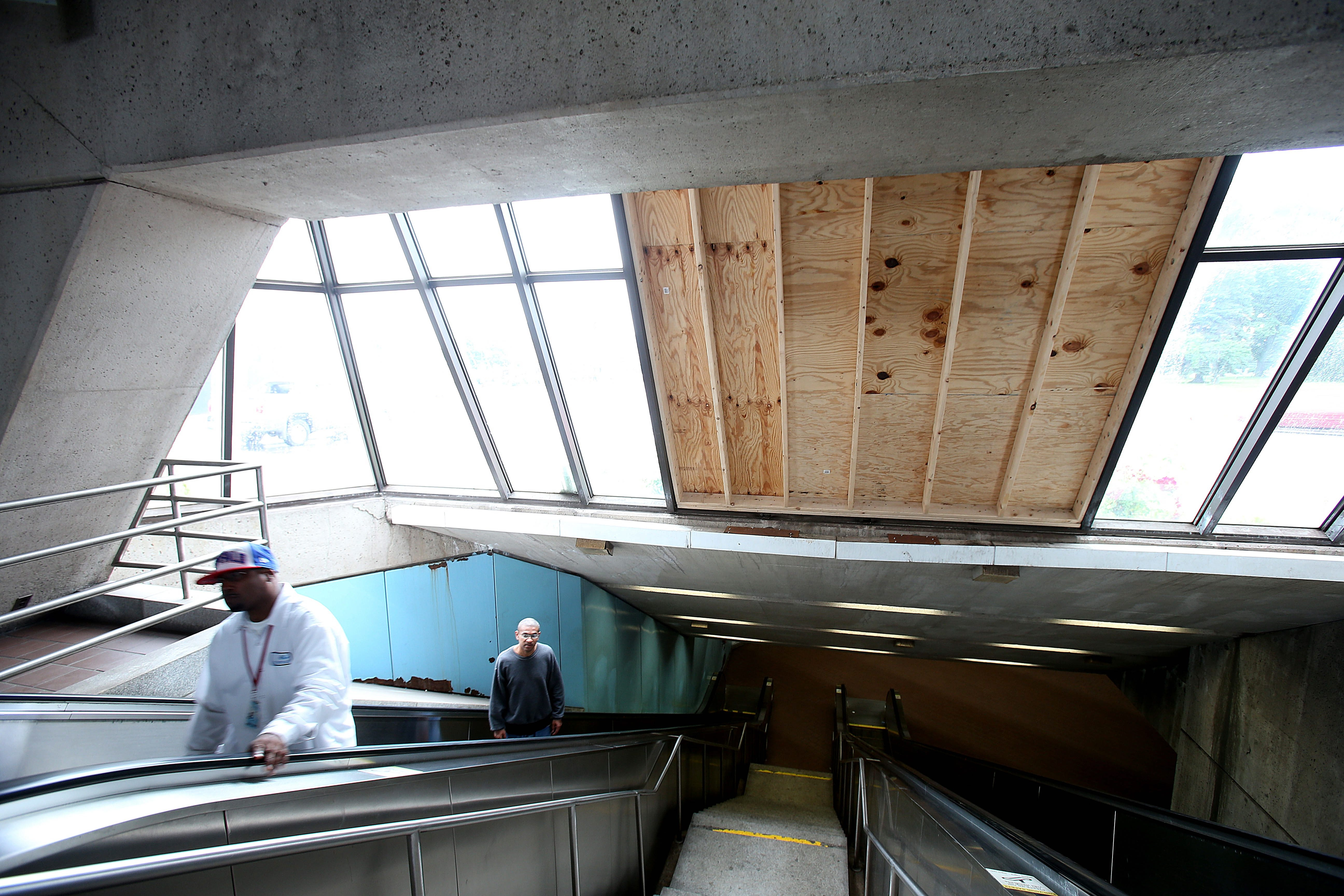 Visitors to the Delavan-Canisius station are treated to rusty panels, the smell of urine, the sound of unsettling Schoenberg music and the threat of  automobiles crashing through the window.