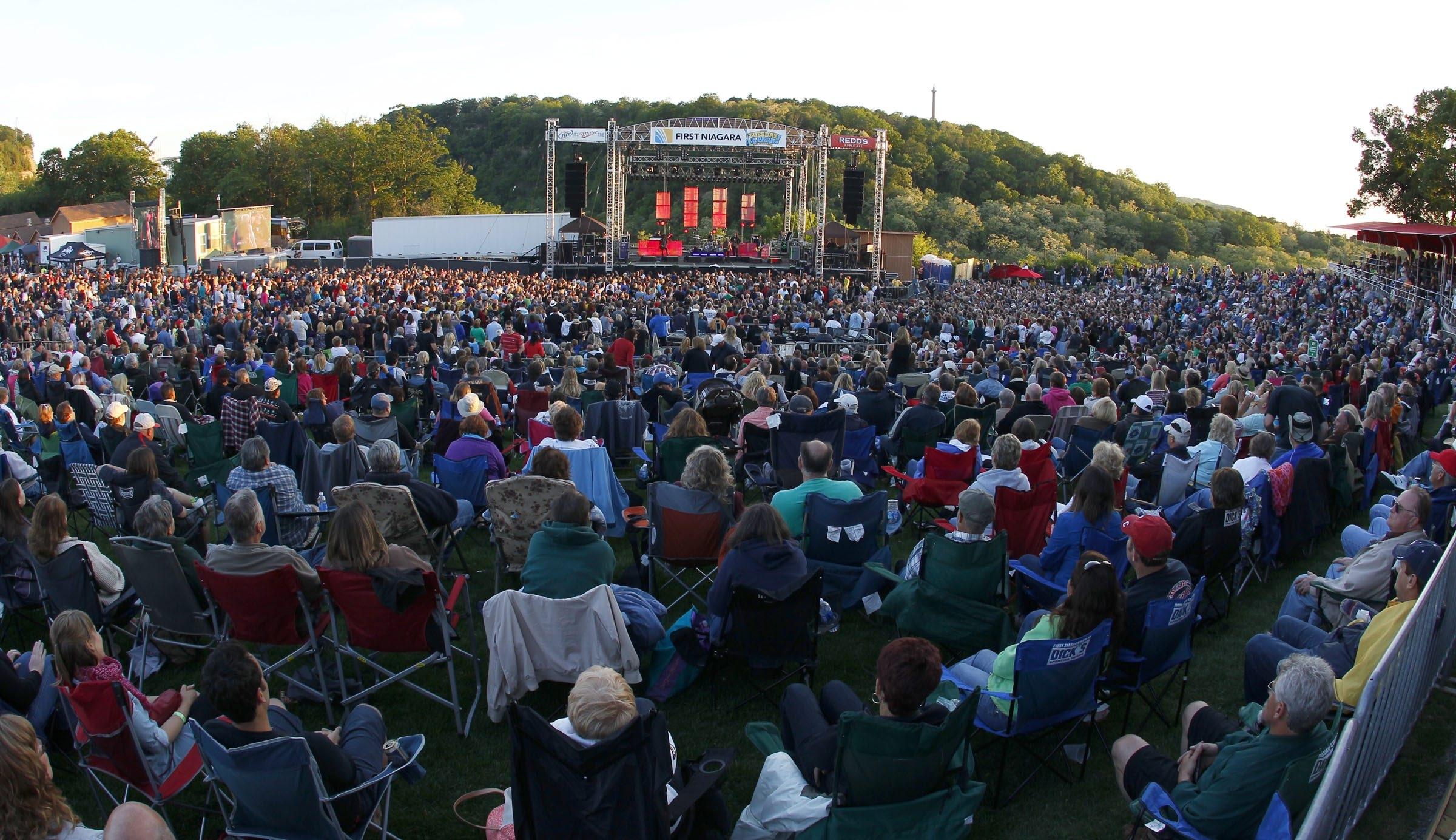 Fans watch a performance at Artpark.