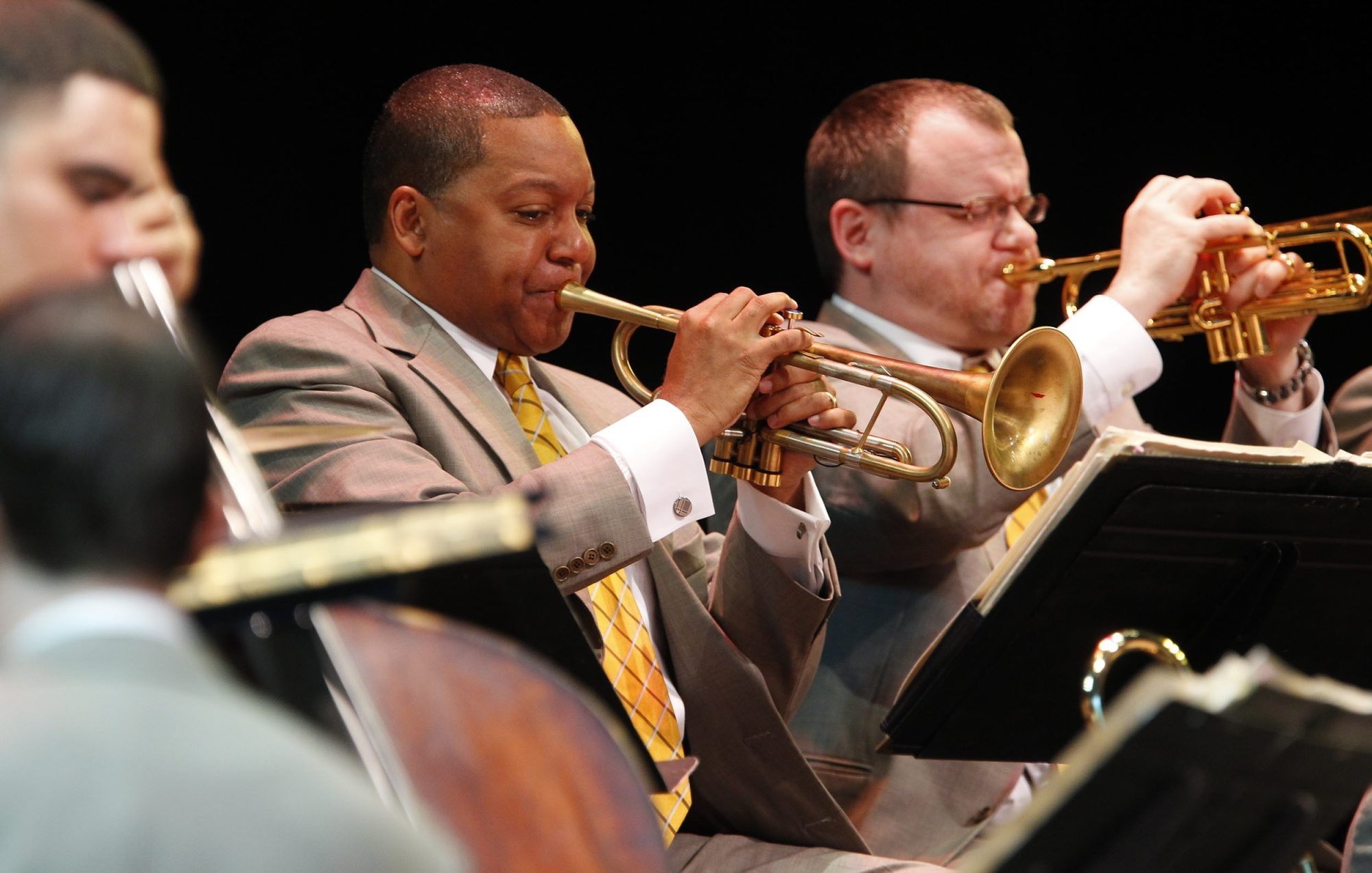 Wynton Marsalis perform with the Lincoln Center Orchestra as part of Artpark's 40th anniversary season, on Monday, June 24, 2013.