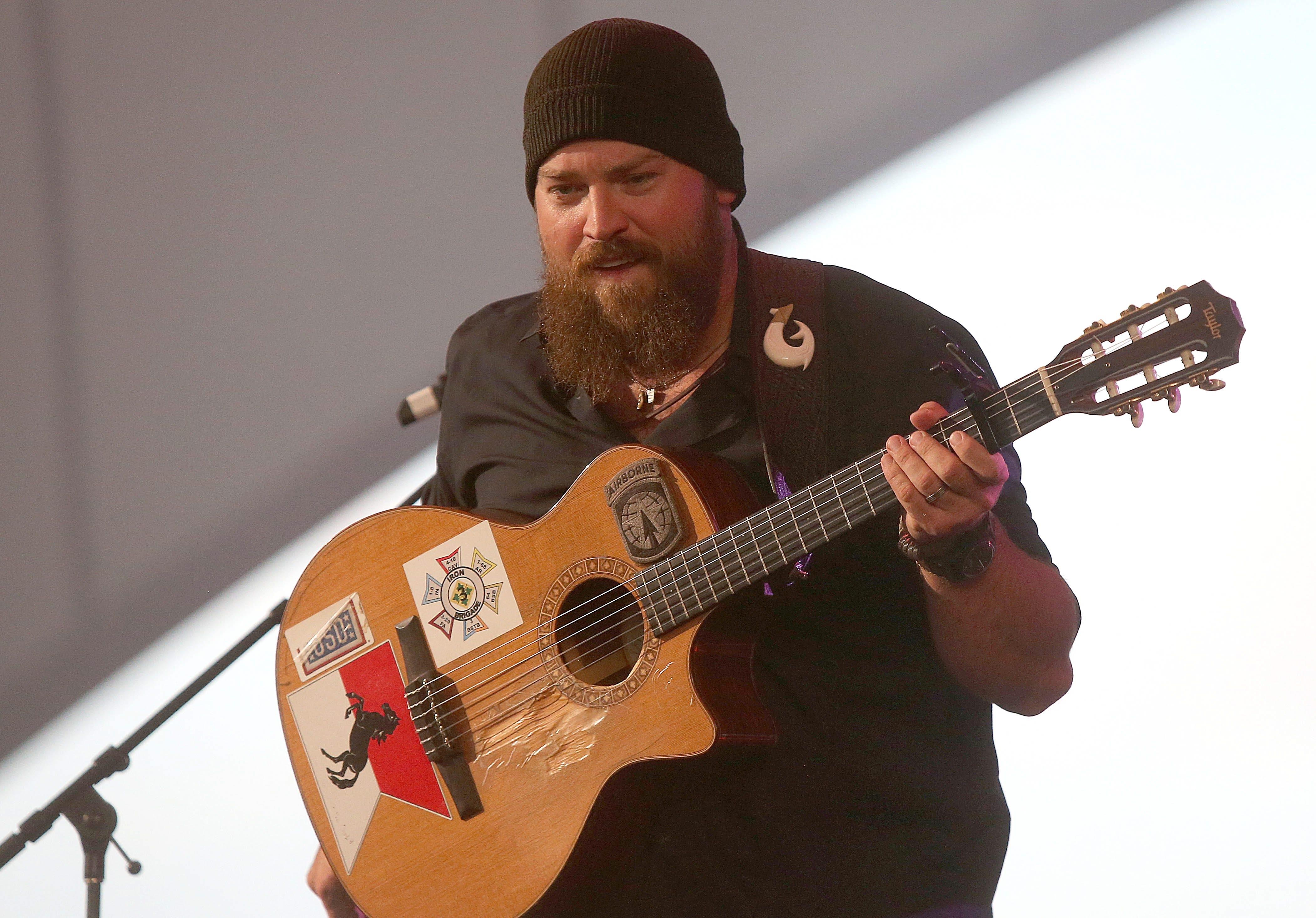 Zac Brown performs at Darien Lake on Sunday.  (Robert Kirkham/Buffalo News)