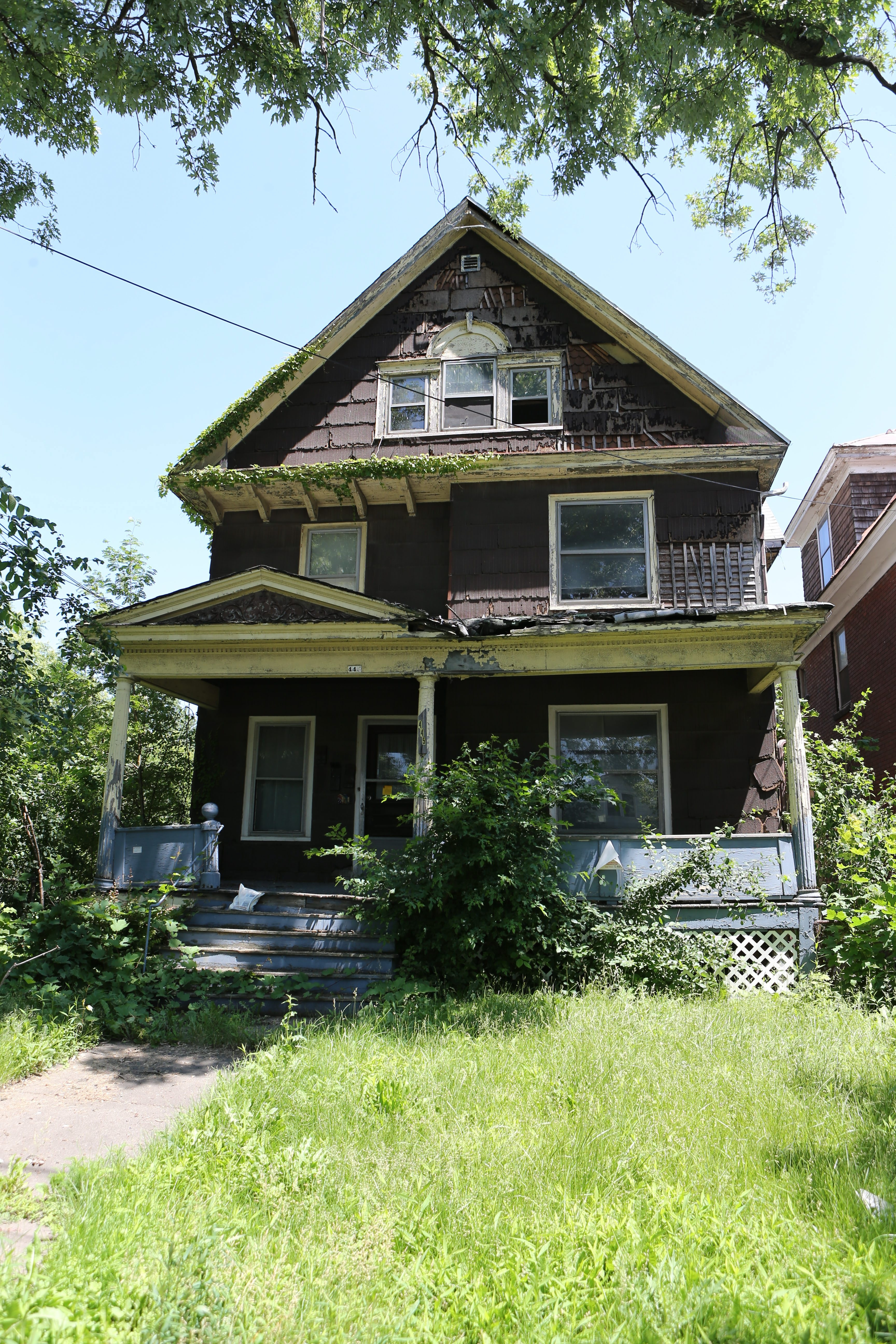 This  home at 442 Fourth St. in Niagara Falls is one of 14 blighted buildings scheduled to be demolished in the near future as part of the contract.