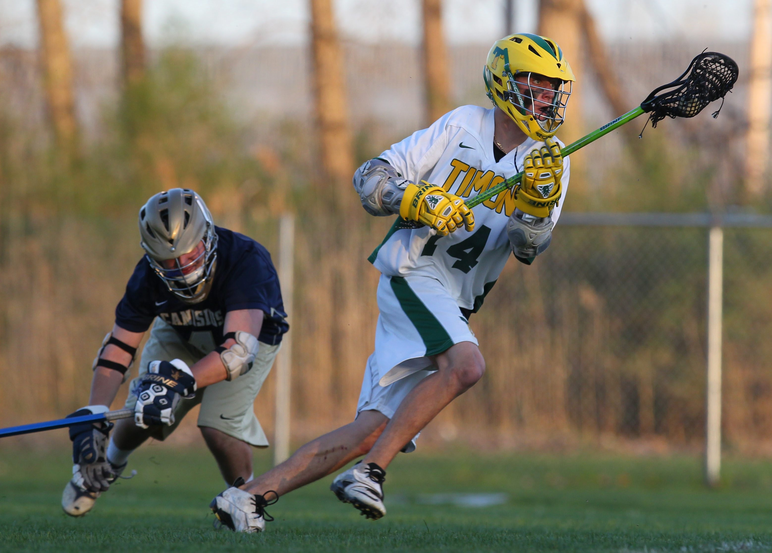 Connor Fields and his Bishop Timon-St. Jude lacrosse teammates won a state Catholic championship.