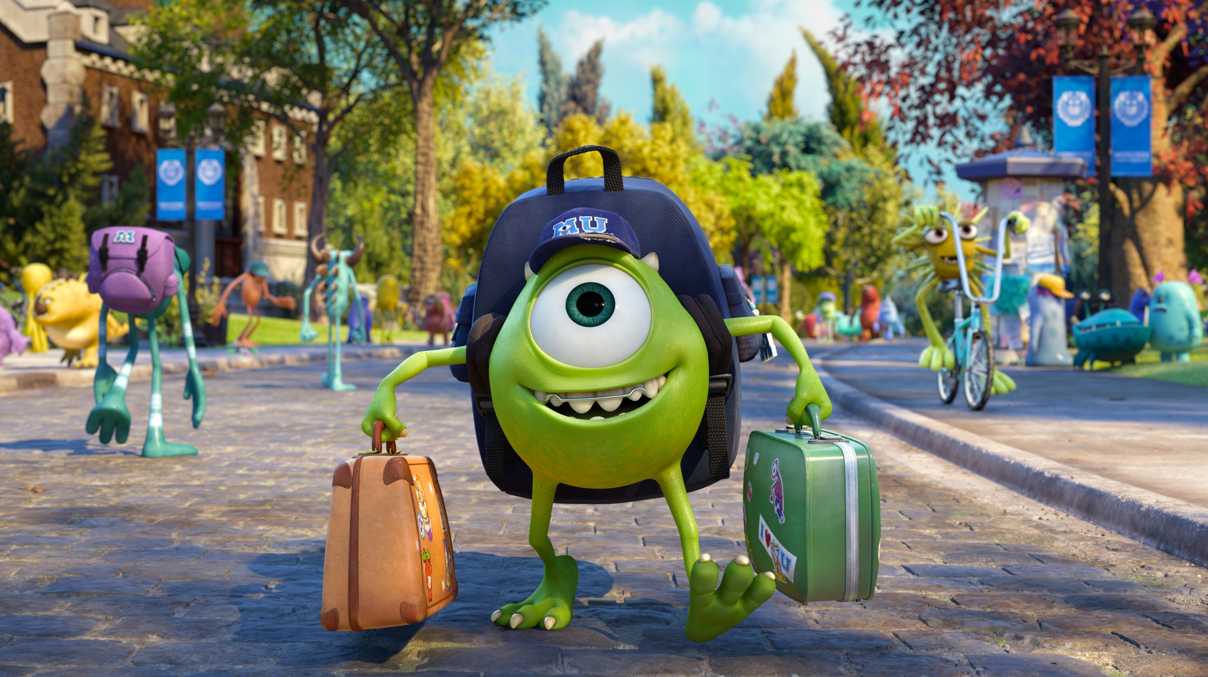 Mike Wazowski, voiced by Billy Crystal in a scene from 'Monsters University.'