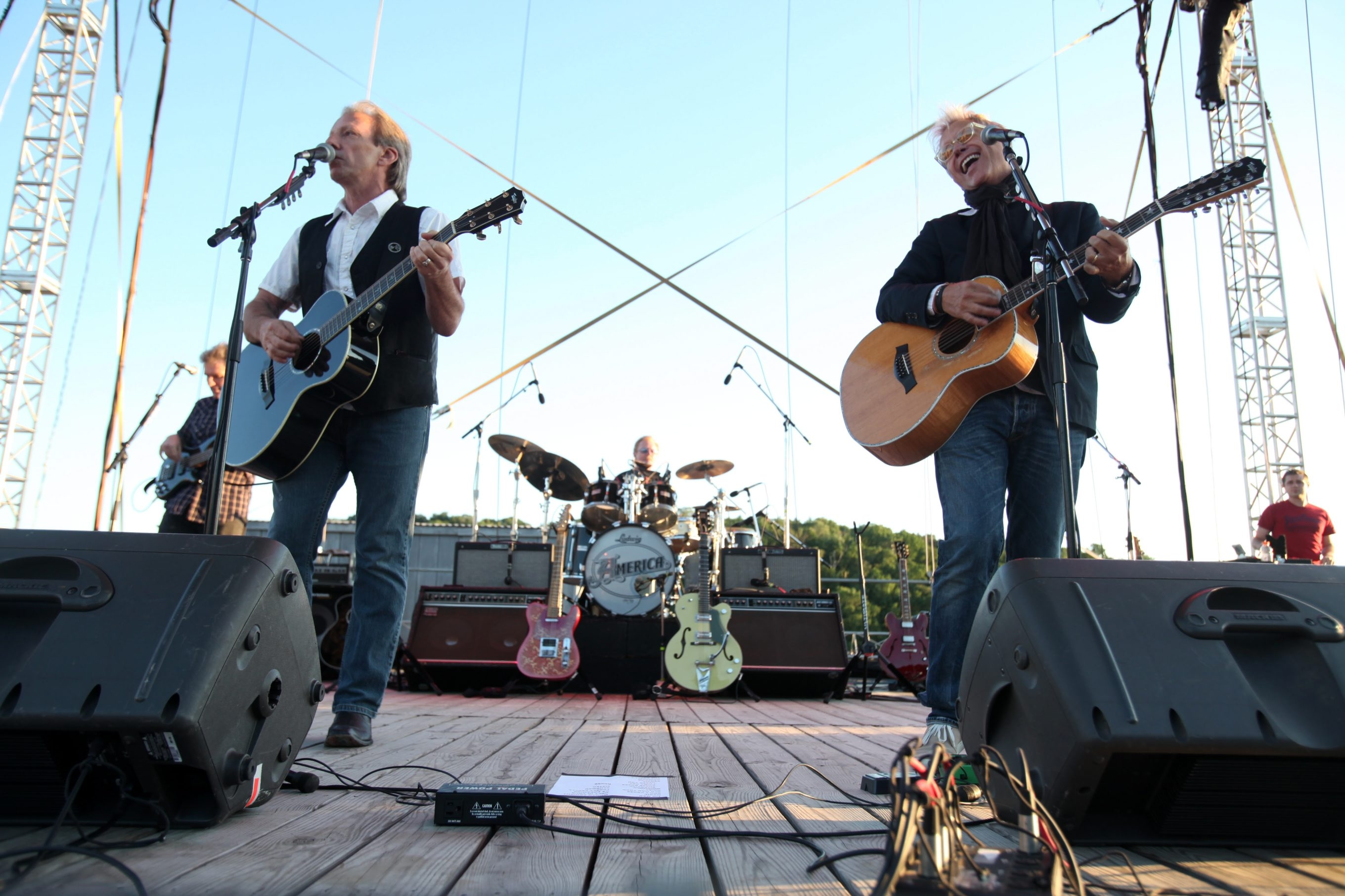 America's Dewey Bunnell, left, and Gerry Beckley , shown at Artpark in 2010, will be playing in the BPO Rocks! series next March.