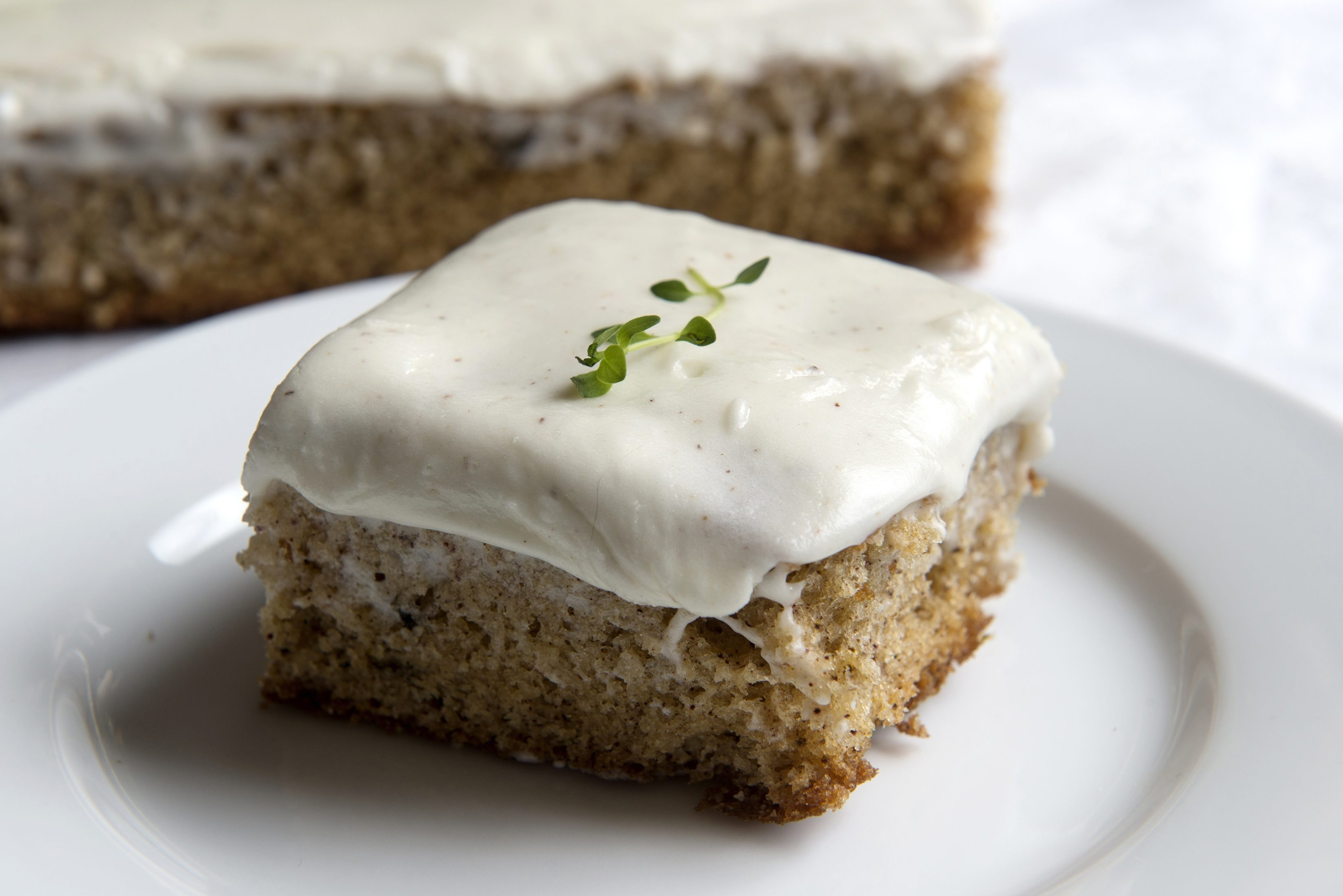 Playing well with sweet and savory alike, lemon thyme adds a flavorful touch to spice cake.