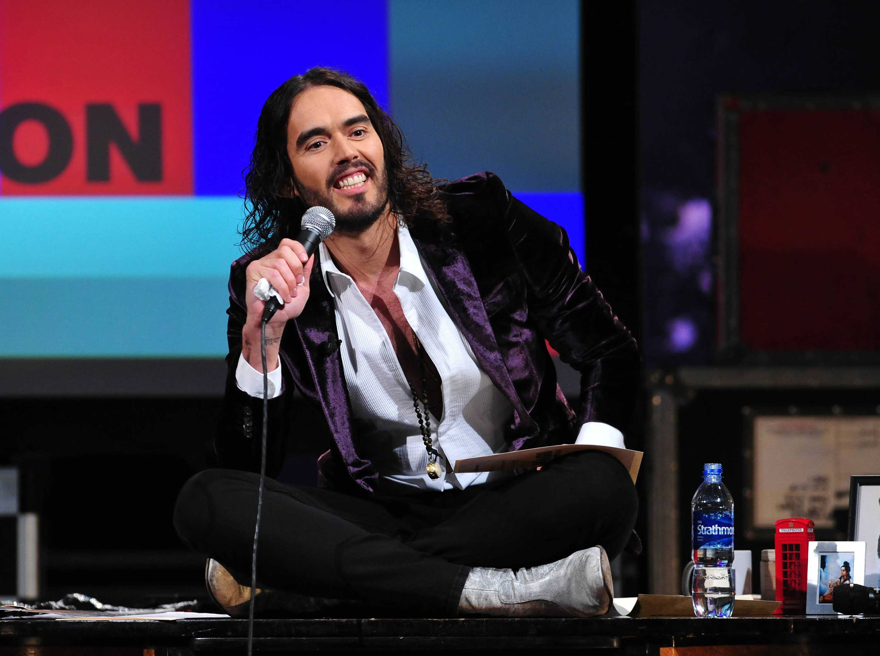 Russell Brand stole the show as guest on 'Morning Joe.'