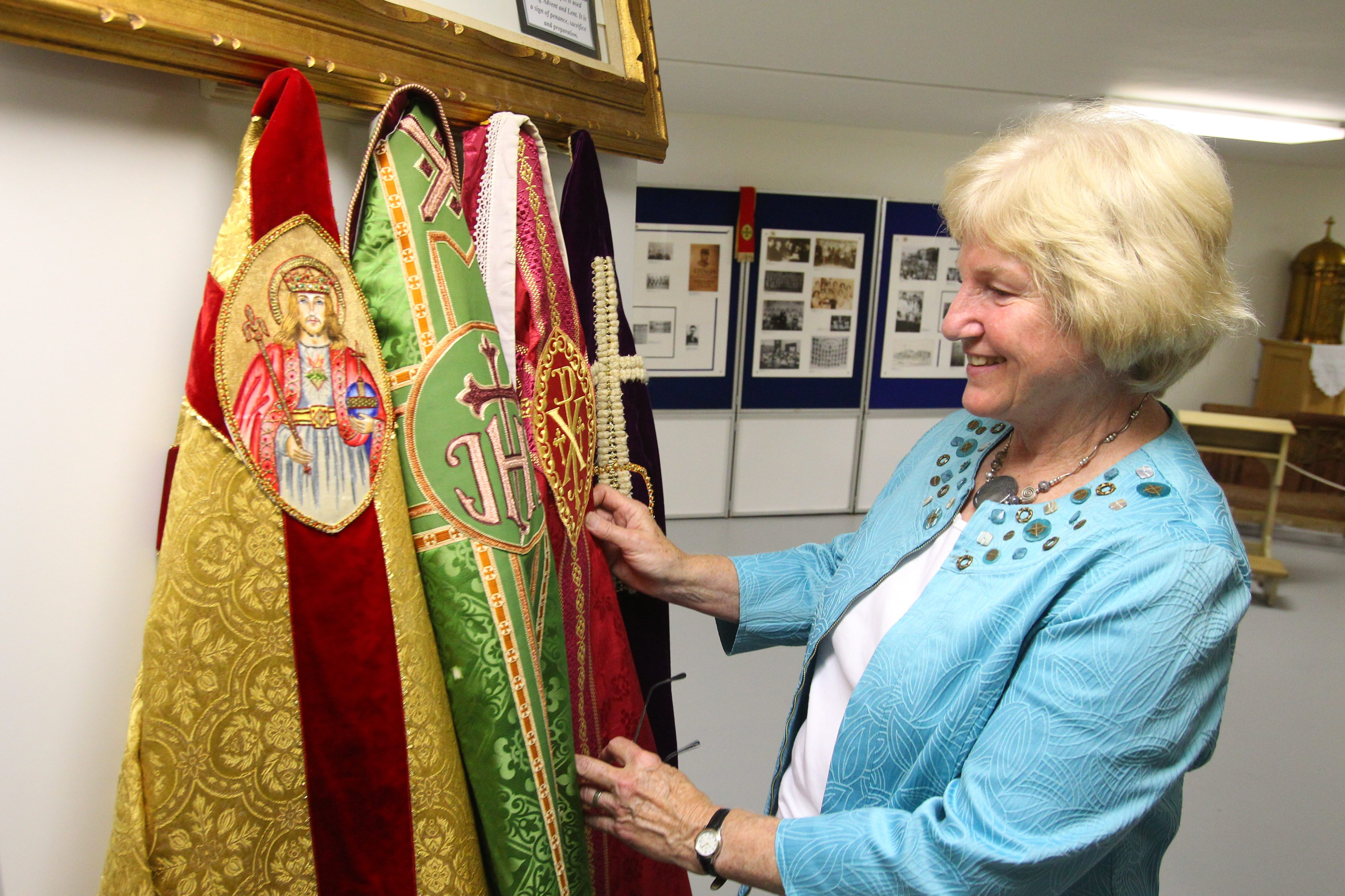 """What calls out to me is the richness of the vestments,"" says Karen Krajewski, who helped assemble the new museum."