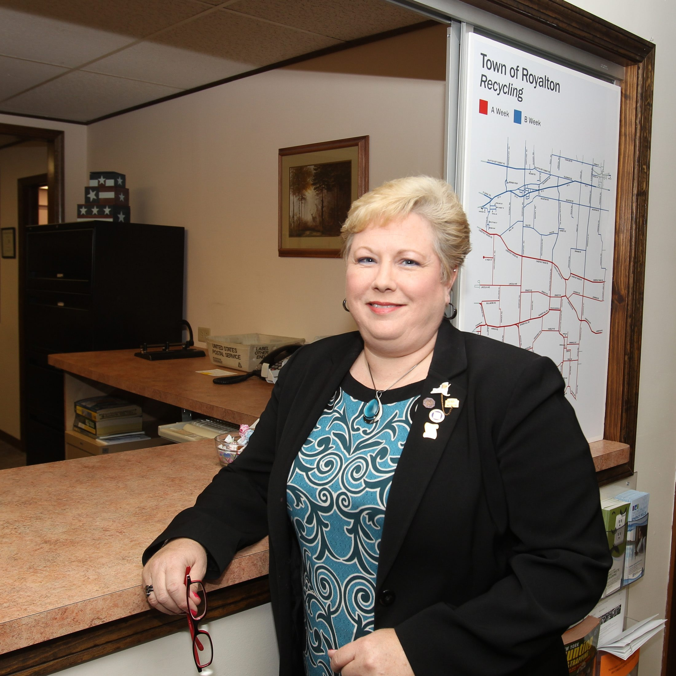 Royalton Town Clerk Marie Little was voted the top clerk statewide by her peers from across the state.