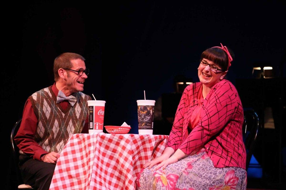 Brian Riggs and Charmagne Chi star in the Kavinoky Theatre's production of 'I Love You, You're Perfect, Now Change.'