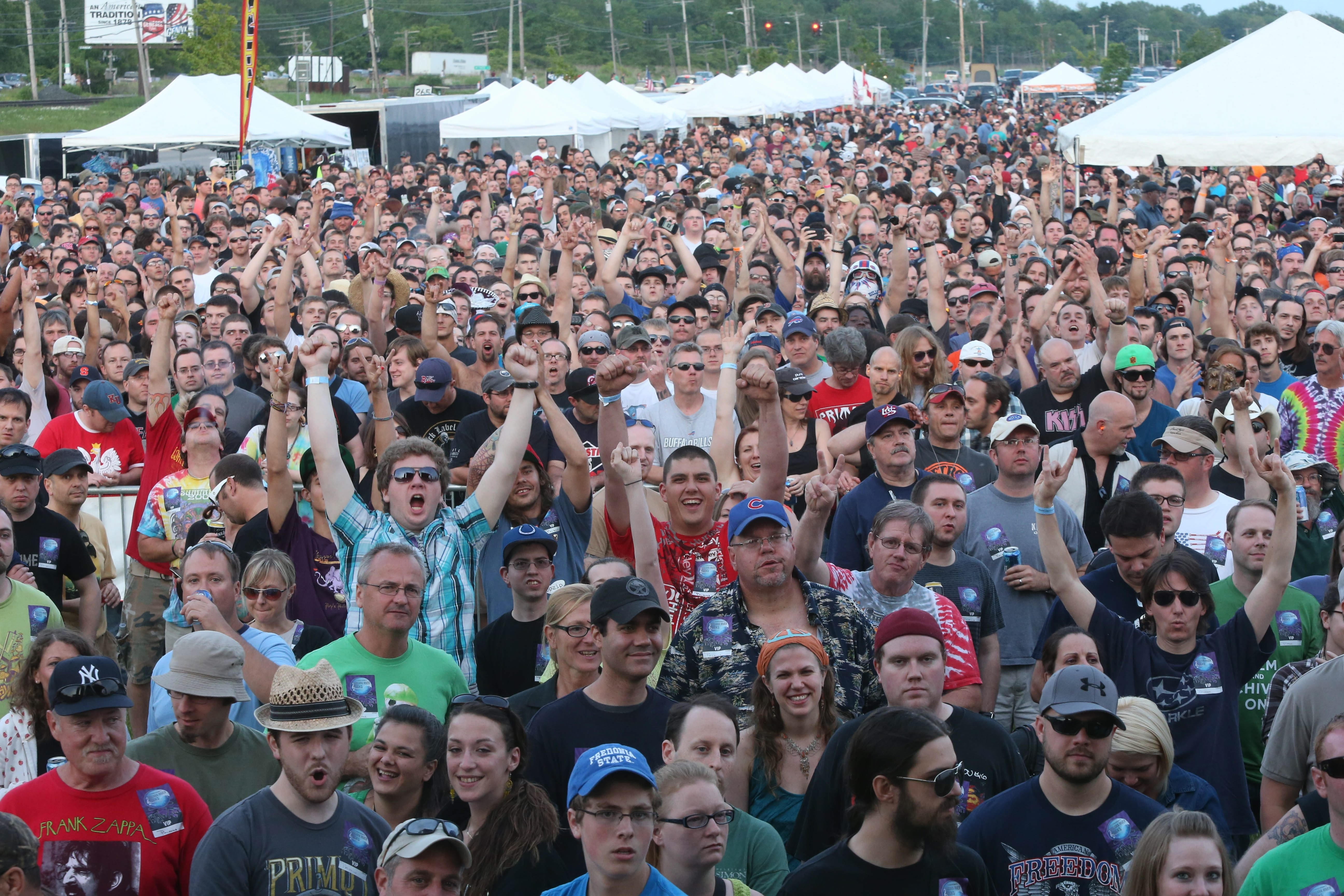Millenial Primus fans and old-timers sporting Zappa shirts came for Primus' final tour date at Cornerstone's Niagara River Rocks Concert series in North Tonawanda.