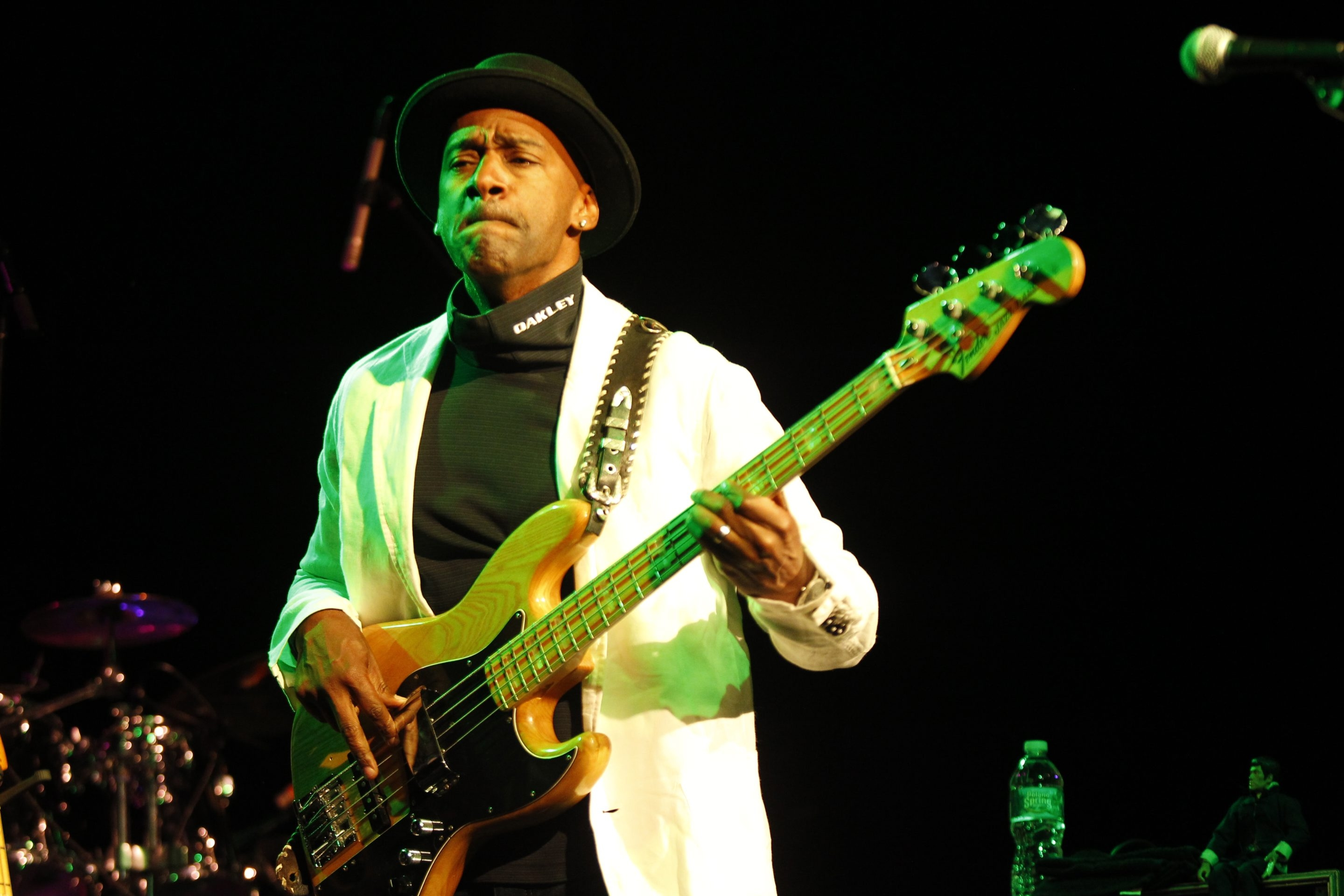 Marcus Miller plays bass while performing at the Bear's Den in the Seneca niagara Casino, on Friday, June 7, 2013.{Photo by Harry Scull Jr. / Buffalo News}