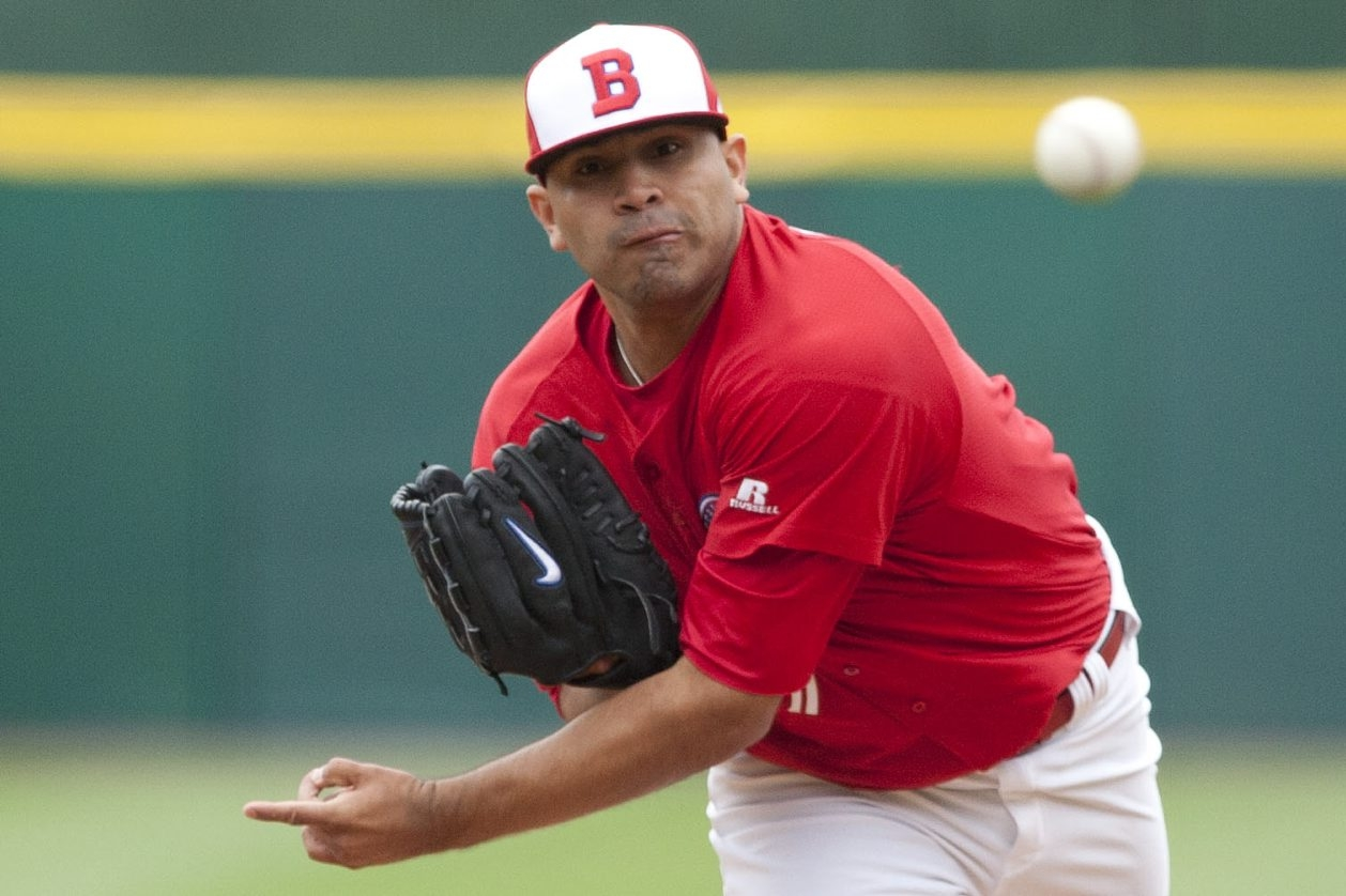 Bisons left-hander Ricky Romero gave up three runs on seven hits in 5∏ innings against the IronPigs on Friday.