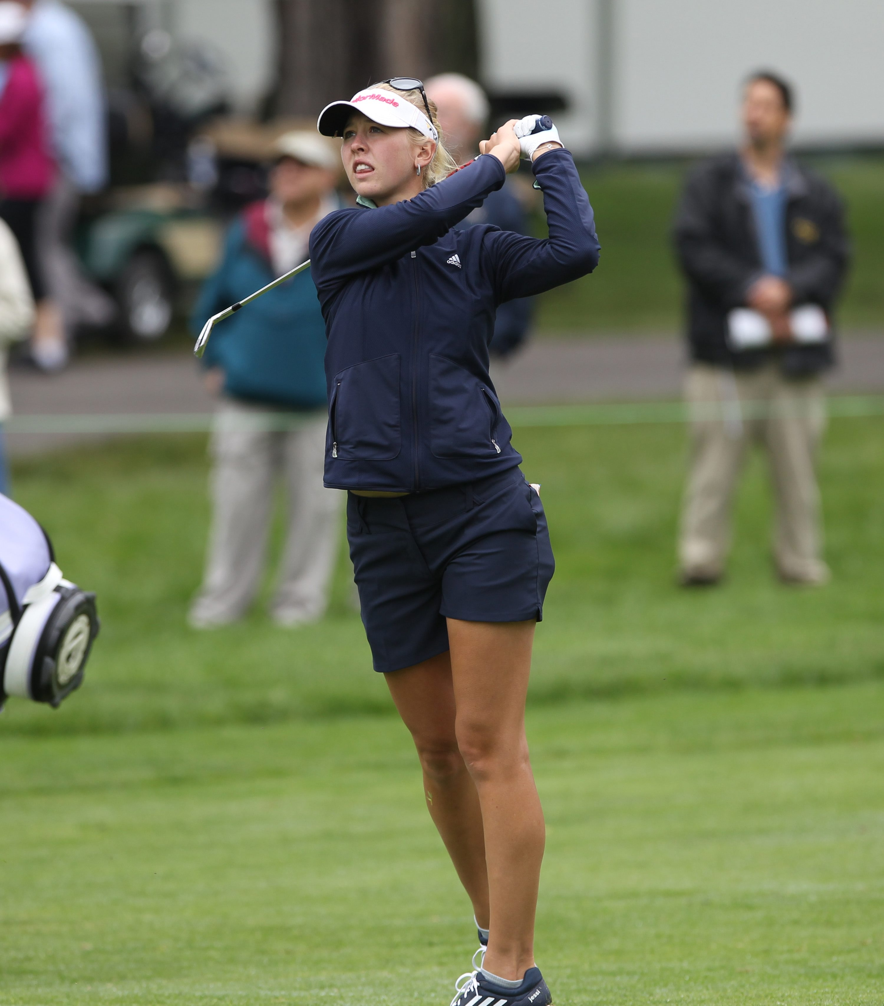 A relaxed Jessica Korda fired a 2-under-par 70 on Friday, putting her in a tie for fifth place.