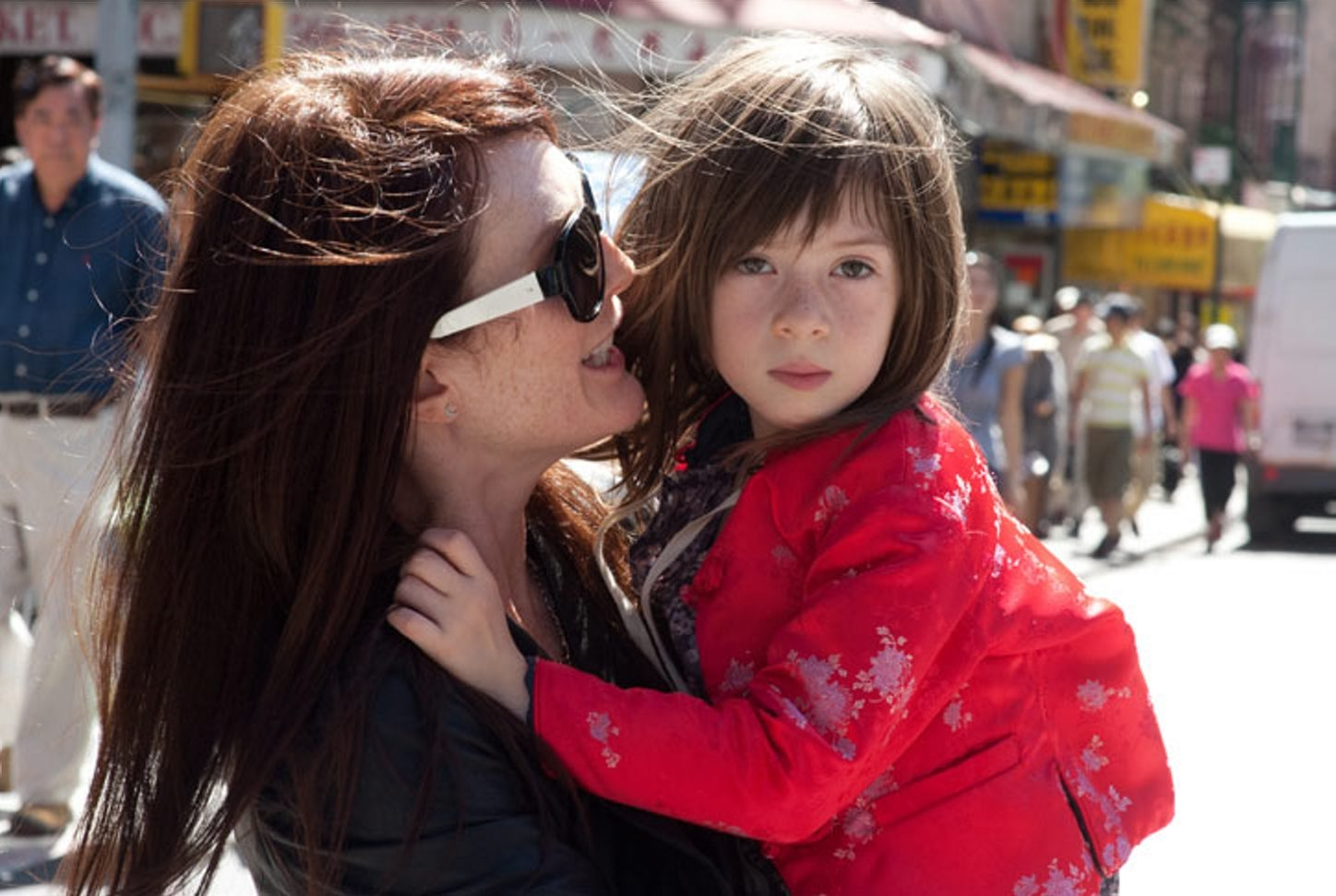 Julianne Moore and Onata Aprile star in 'What Maisie Knew.'