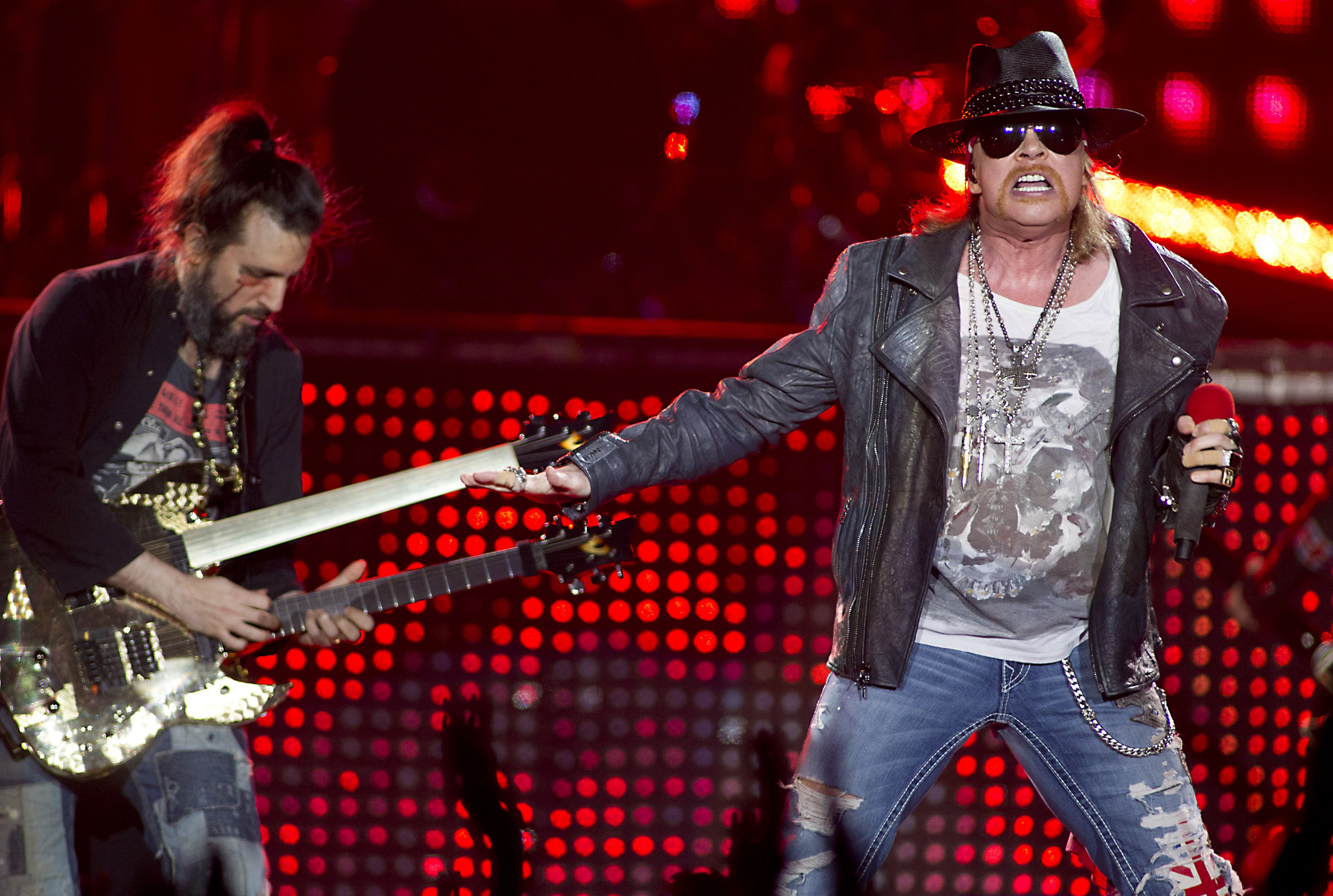 Guns N' Roses performs at 10 p.m. tonight in the Outer Harbor.