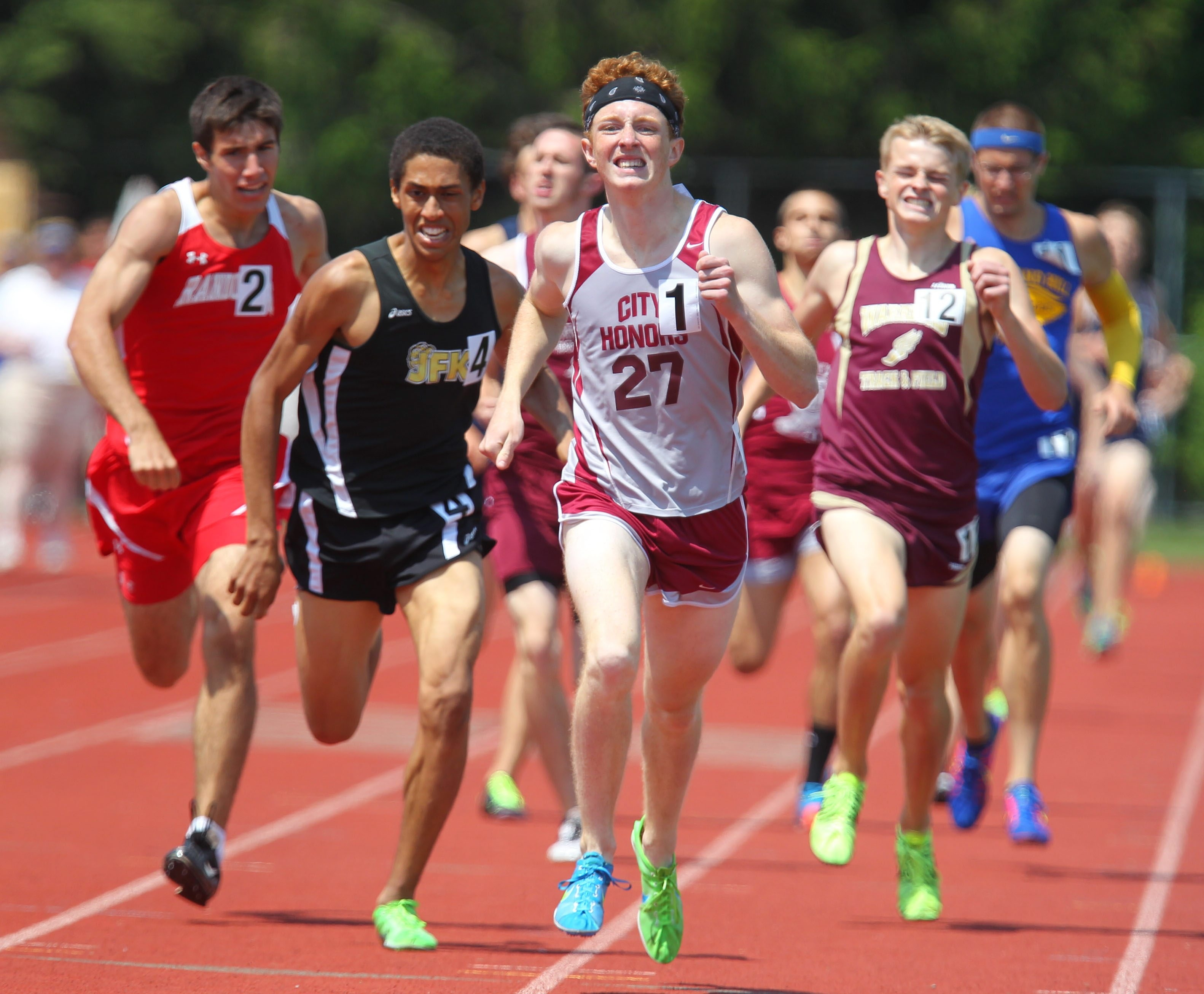 City Honors' Seamus Degan will compete in the Division II 800-meter dash at states after running to victory last weekend at the Section VI meet. (Mark Mulville / Buffalo News)