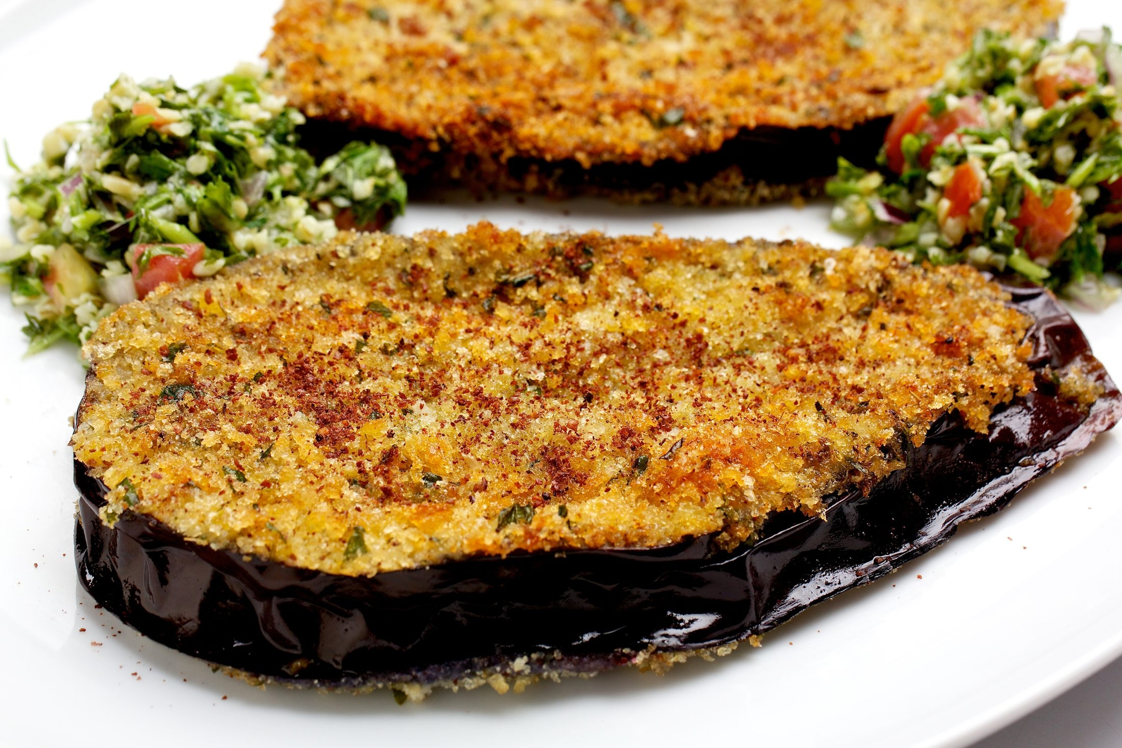 """This tempting eggplant dish comes from Maria Elia's """"The Modern Vegetarian."""""""