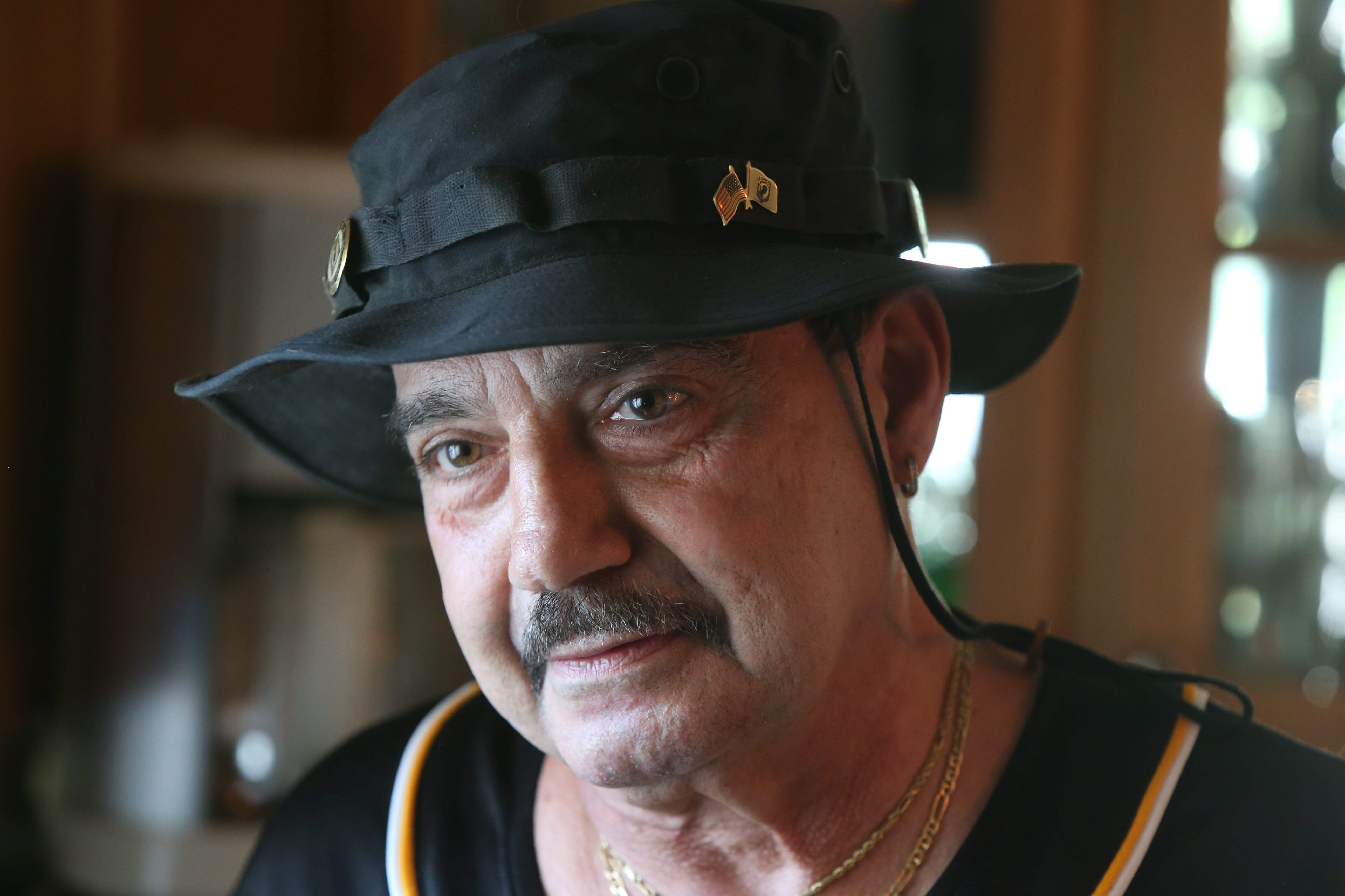 """""""I wake up in cold sweats at night from dreams about the war, actually re-enactments,"""" says Vietnam vet Thomas A. Gena."""