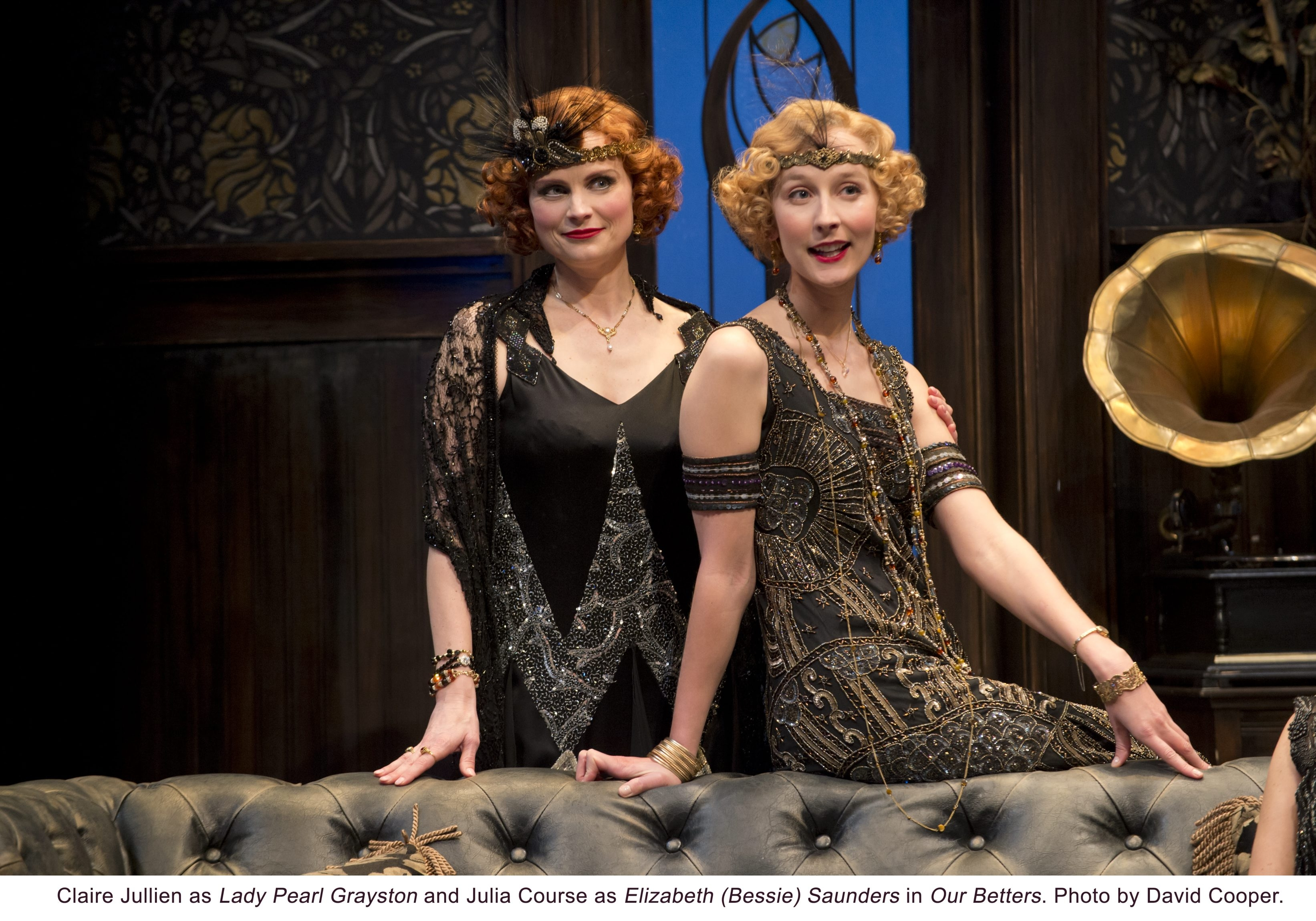 """Claire Jullien plays Lady Pearl Grayston and Julia Course plays Elizabeth Saunders in """"Our Betters"""" at the Shaw Festival."""