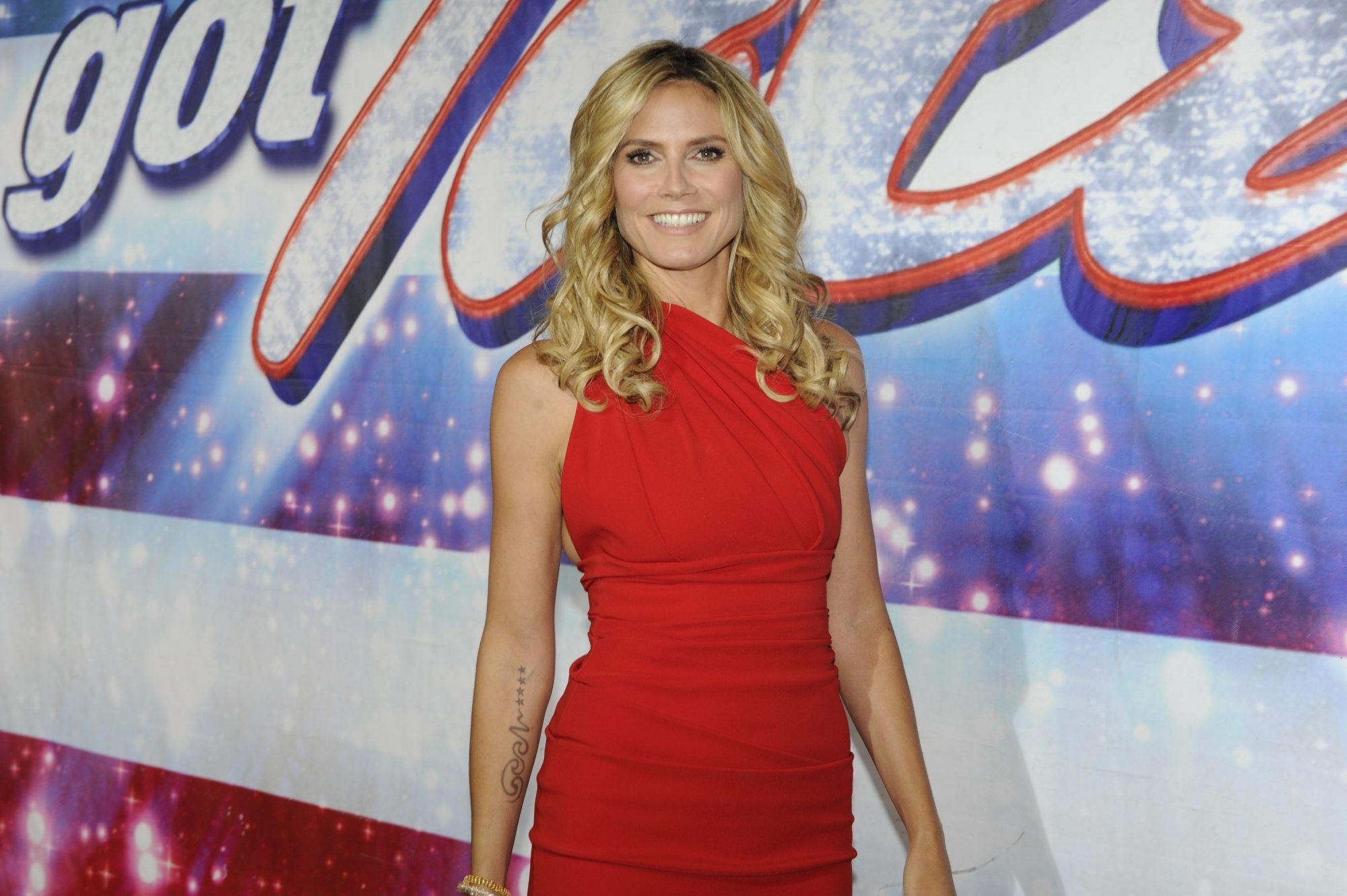 "Supermodel Heidi Klum joins the judges table on NBC's ""America's Got Talent."""