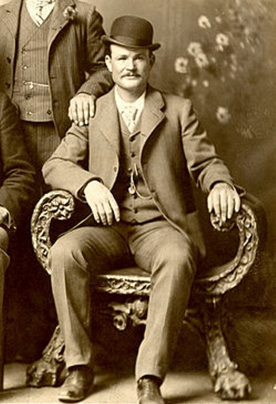 A photo taken in 1901 in Fort Worth, Texas, shows notorious bandit Butch Cassidy.