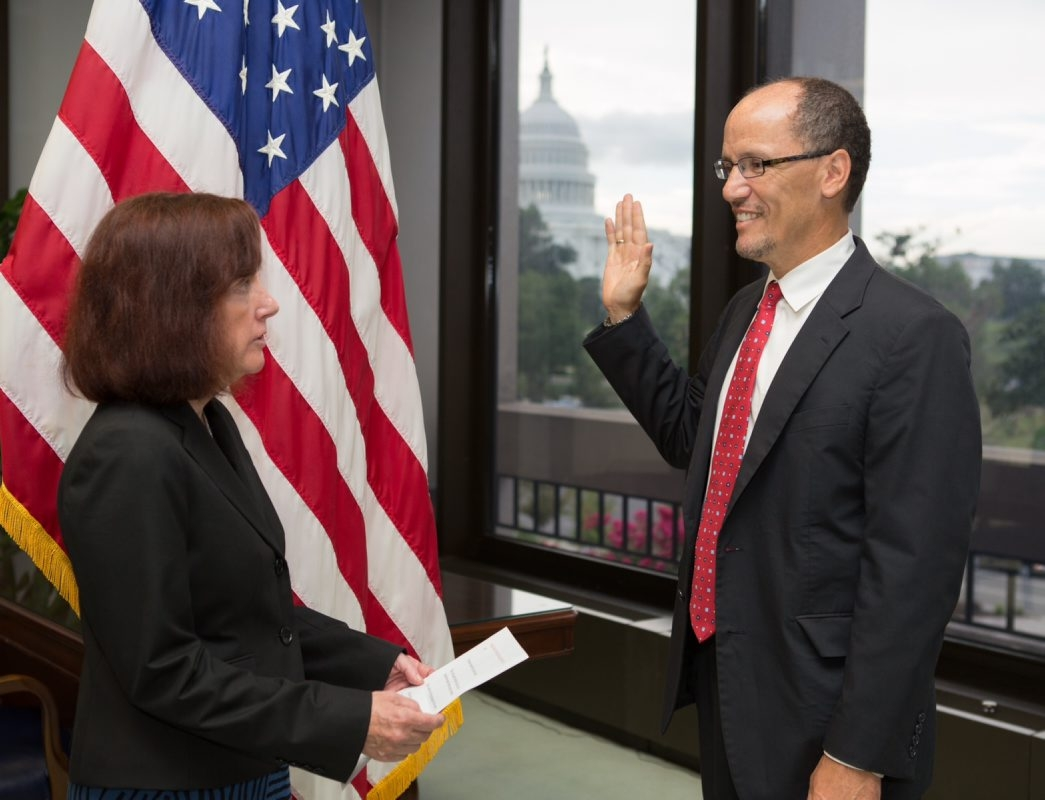 Buffalo native Thomas E. Perez was sworn in as labor secretary today, less than a week after being confirmed by the Senate. (U.S. Department of Labor)