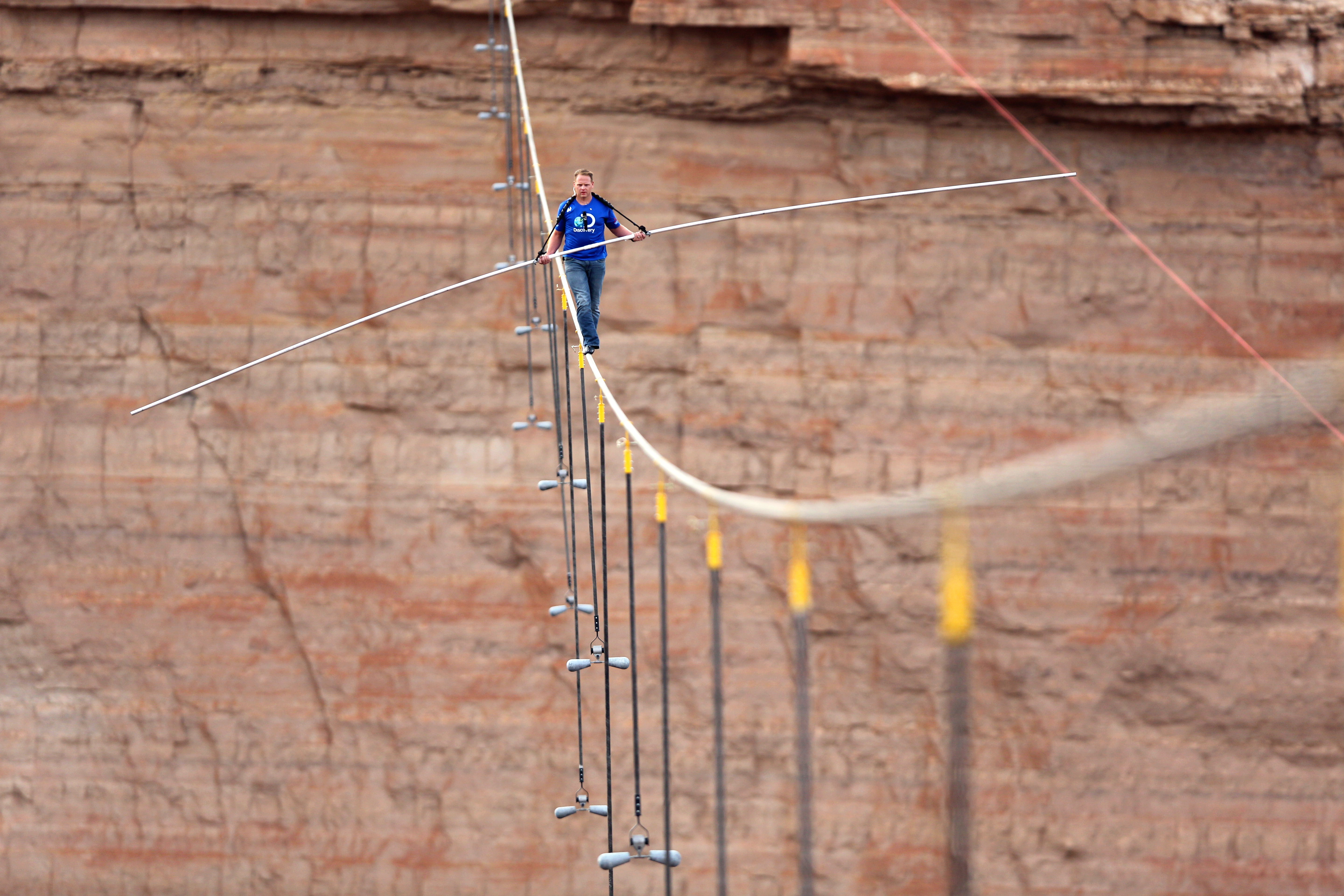 The interest generated by Nik Wallenda's walk at the Grand Canyon can only help the popularity of an attraction in Niagara Falls. (AP photo)