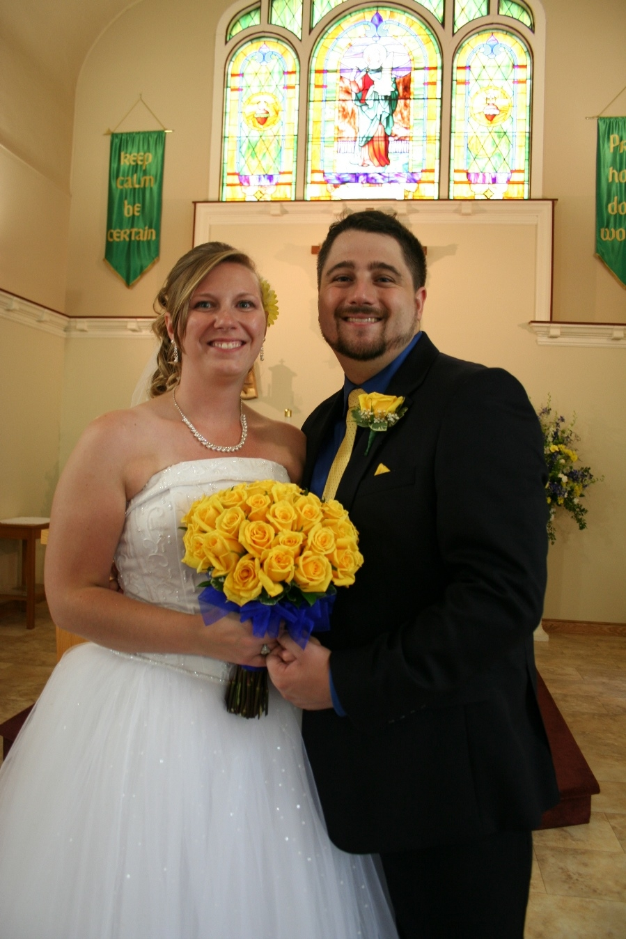 Danielle McGiveron and Timothy Dosch wed in St. Cecilia Catholic Church