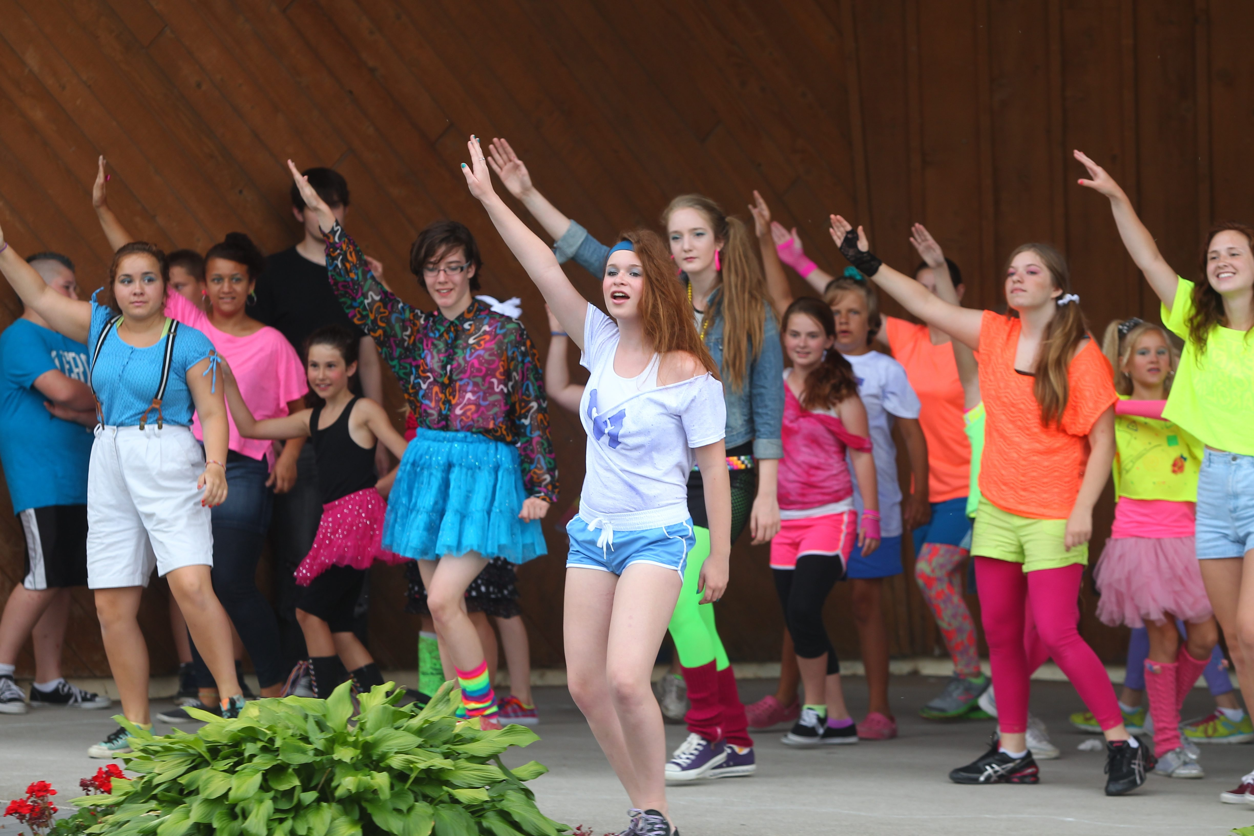 """The outdoor production of  """"Back to the '80s""""  begins Monday in Niawanda Park."""