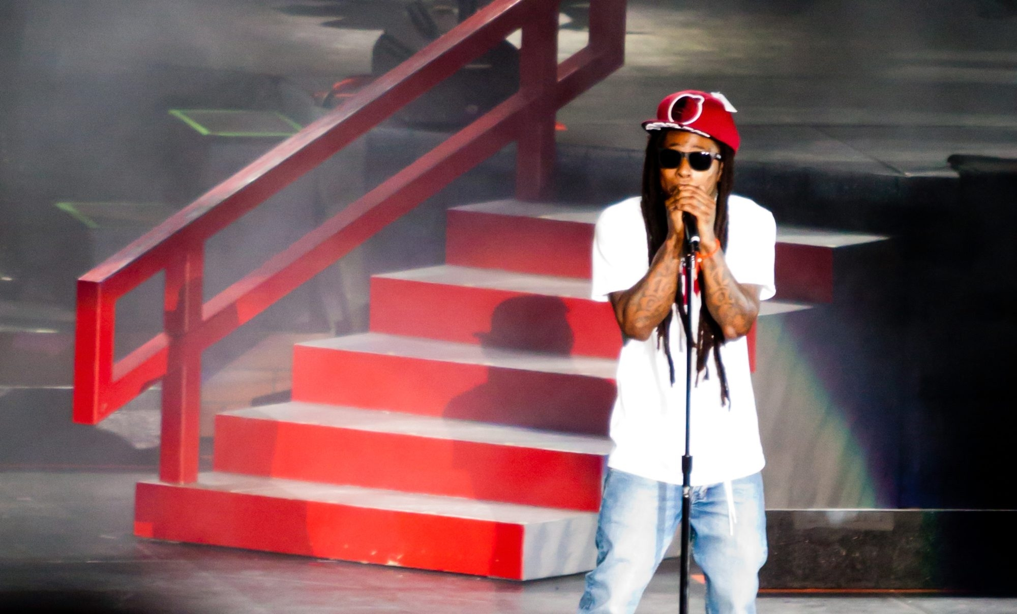 Lil Wayne performs Tuesday at the Darien Lake Performing Arts Center.