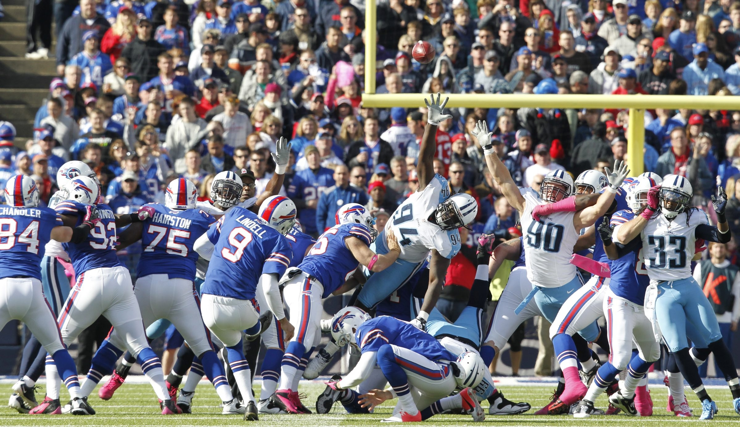 Bills kicker Rian Lindell (9) will try to keep his job during training camp this summer.