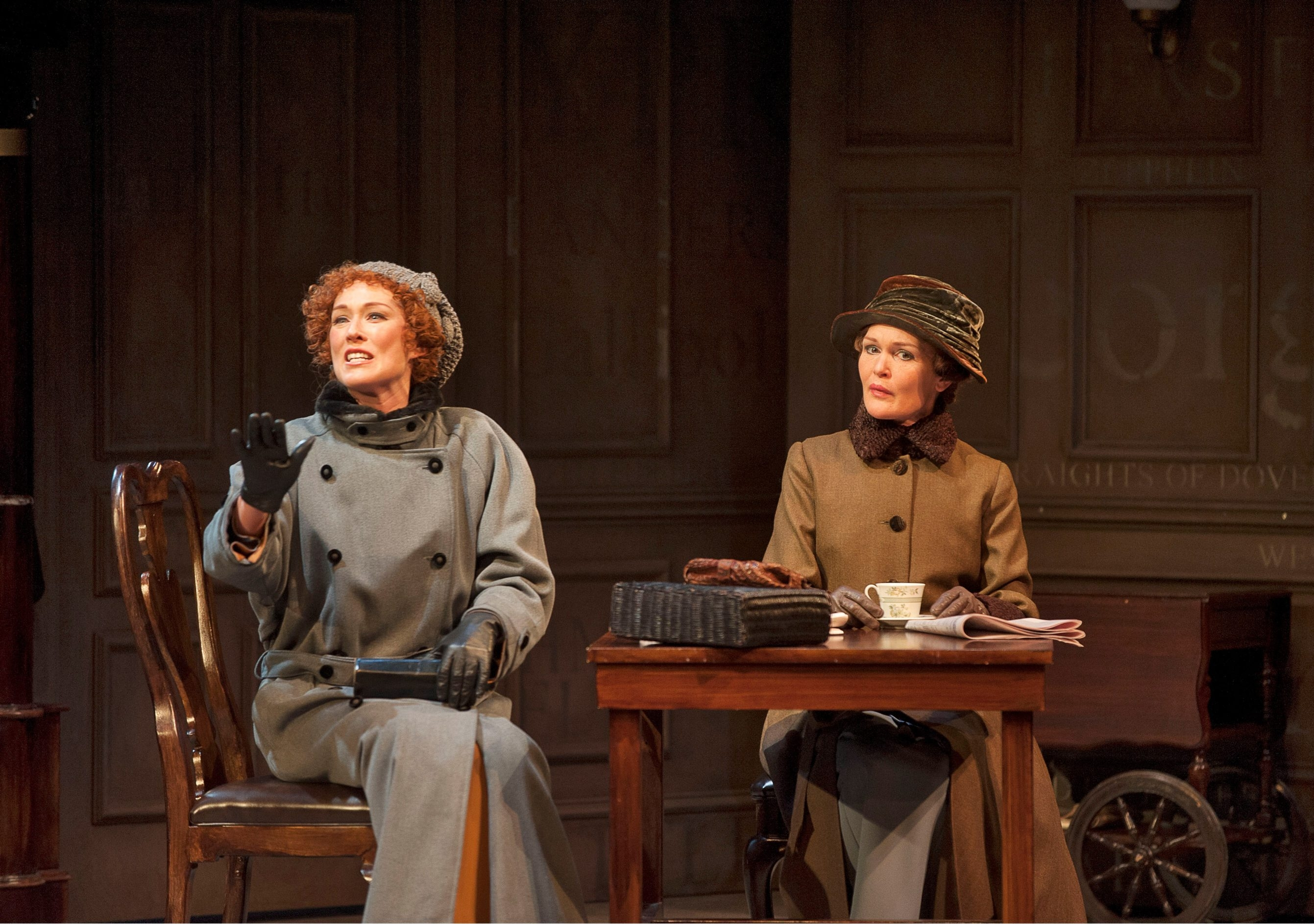 "Moya O'Connell as Lotty Wilton and Tara Rosling as Rose Arnott in ""Enchanted April"" at the Shaw Festival."