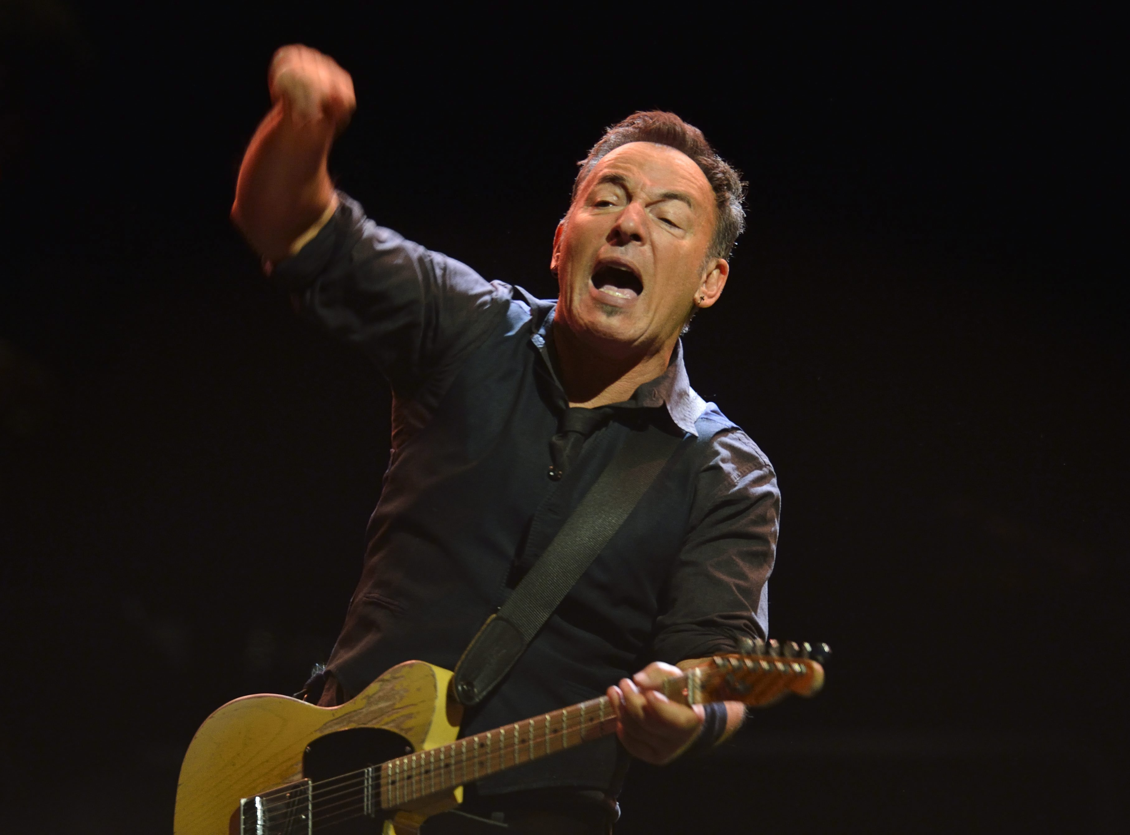 "Bruce Springsteen, seen in a file photo, dedicated ""American Skin (41 Shots)"" to Trayvon Martin on Tuesday."