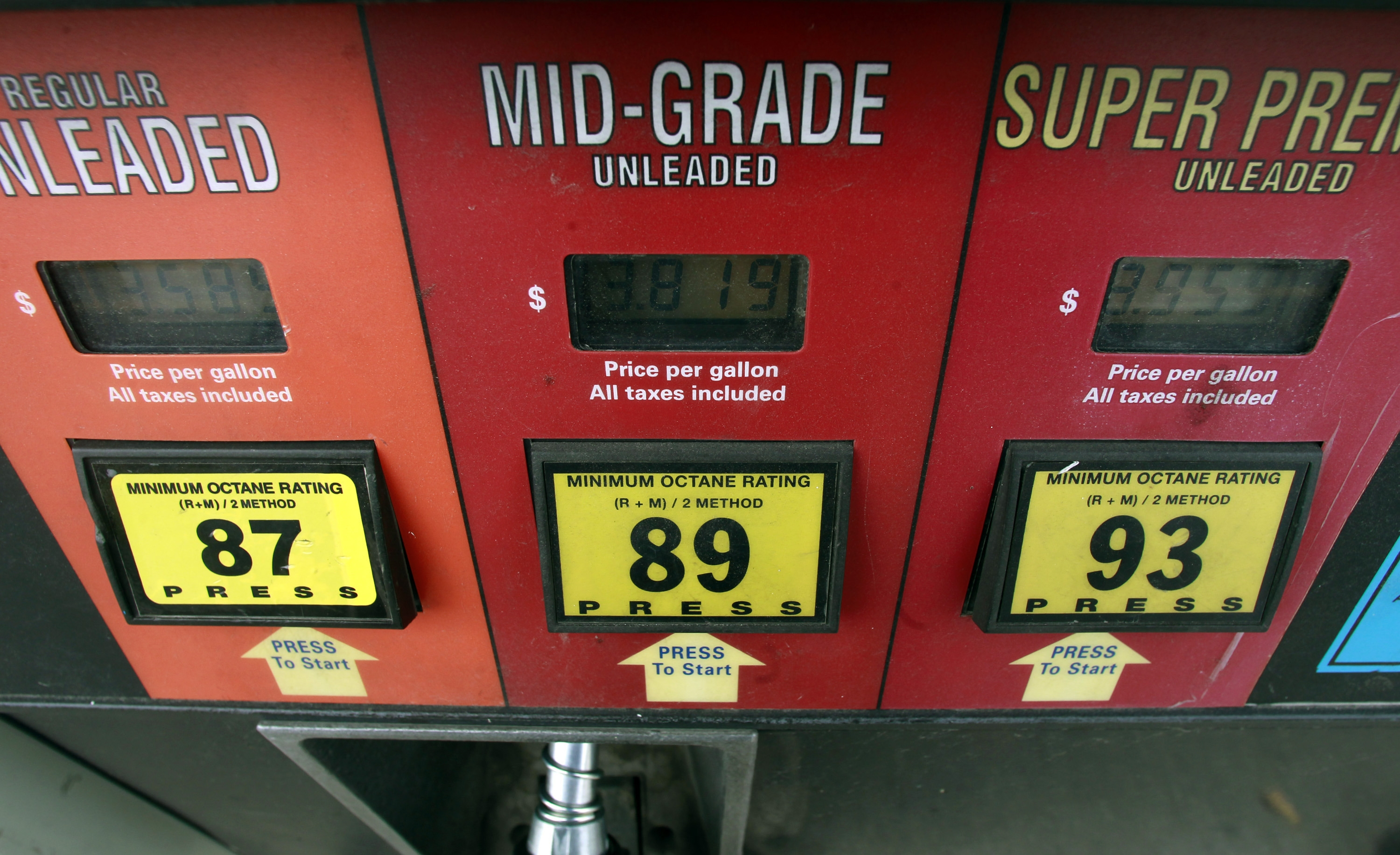 This Friday, Sept. 27, 2013, photo, shows a gas pump in Montpelier, Vt.  The national average price of gasoline has fallen throughout the month, sliding to $3.42 per gallon from $3.59 at the start of the month. The price is at its lowest level since Jan. 31, itís the lowest itís been at this time of year for three years, and it is expected to fall further in the coming days. (AP Photo/Toby Talbot)