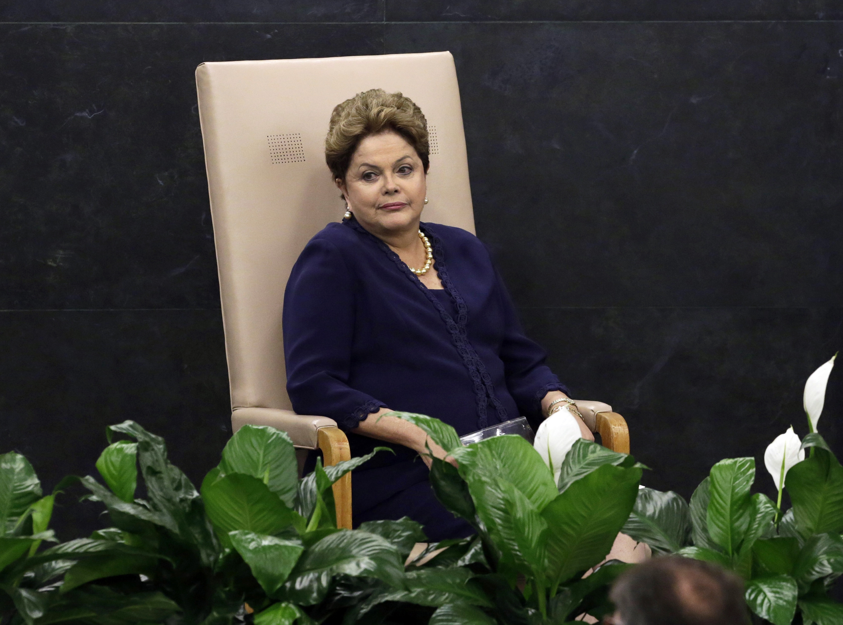 President Dilma Rousseff waits to address U.N. General Assembly on need to safeguard nations from cyberspying.