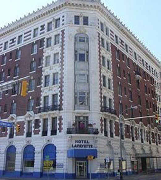 The rehabilitation of the old Hotel Lafayette was possible in part because of federal historic tax credits.