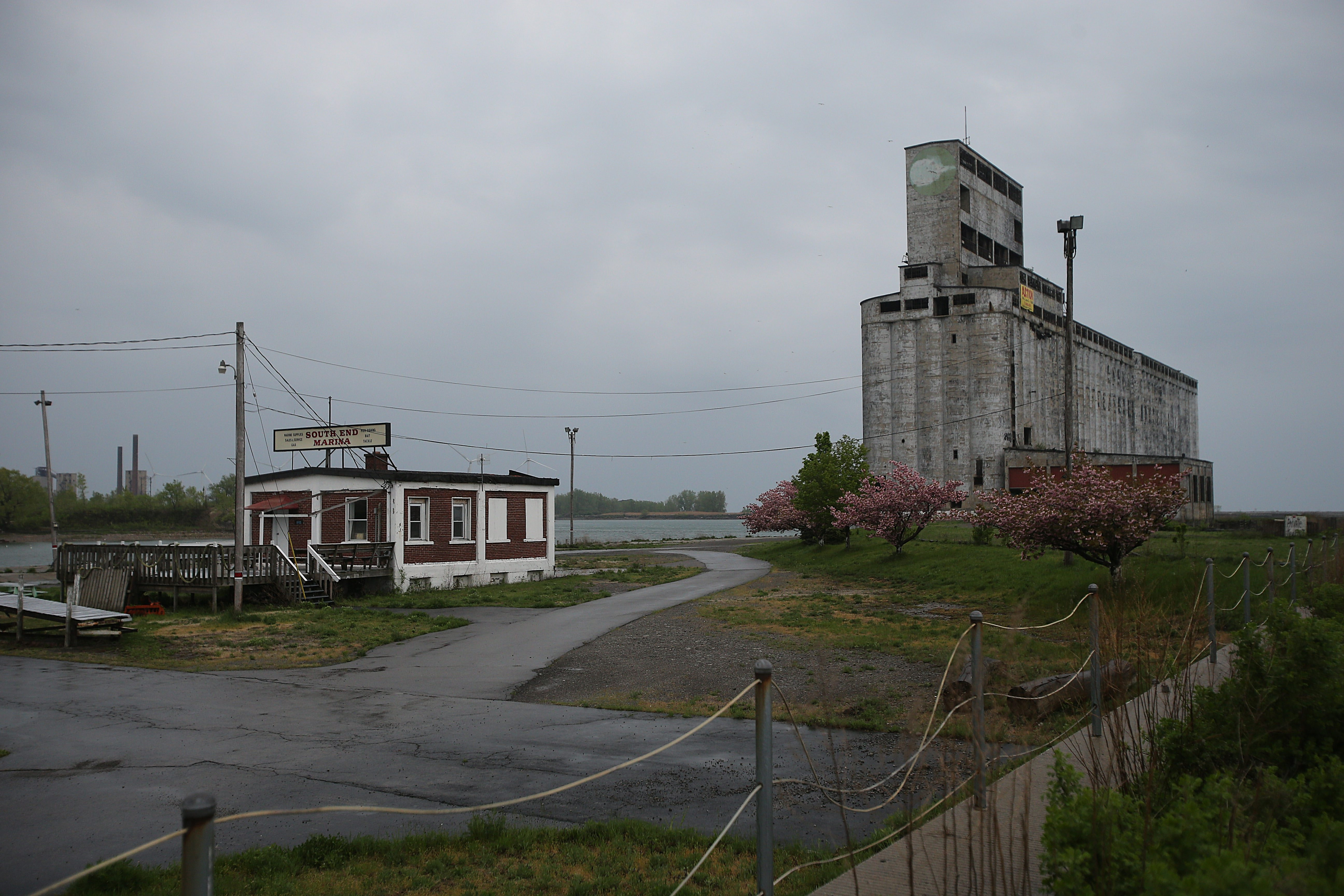 The waterfront parcel that is home to the South End Marina building and the cluster of grain silos is to be redeveloped.
