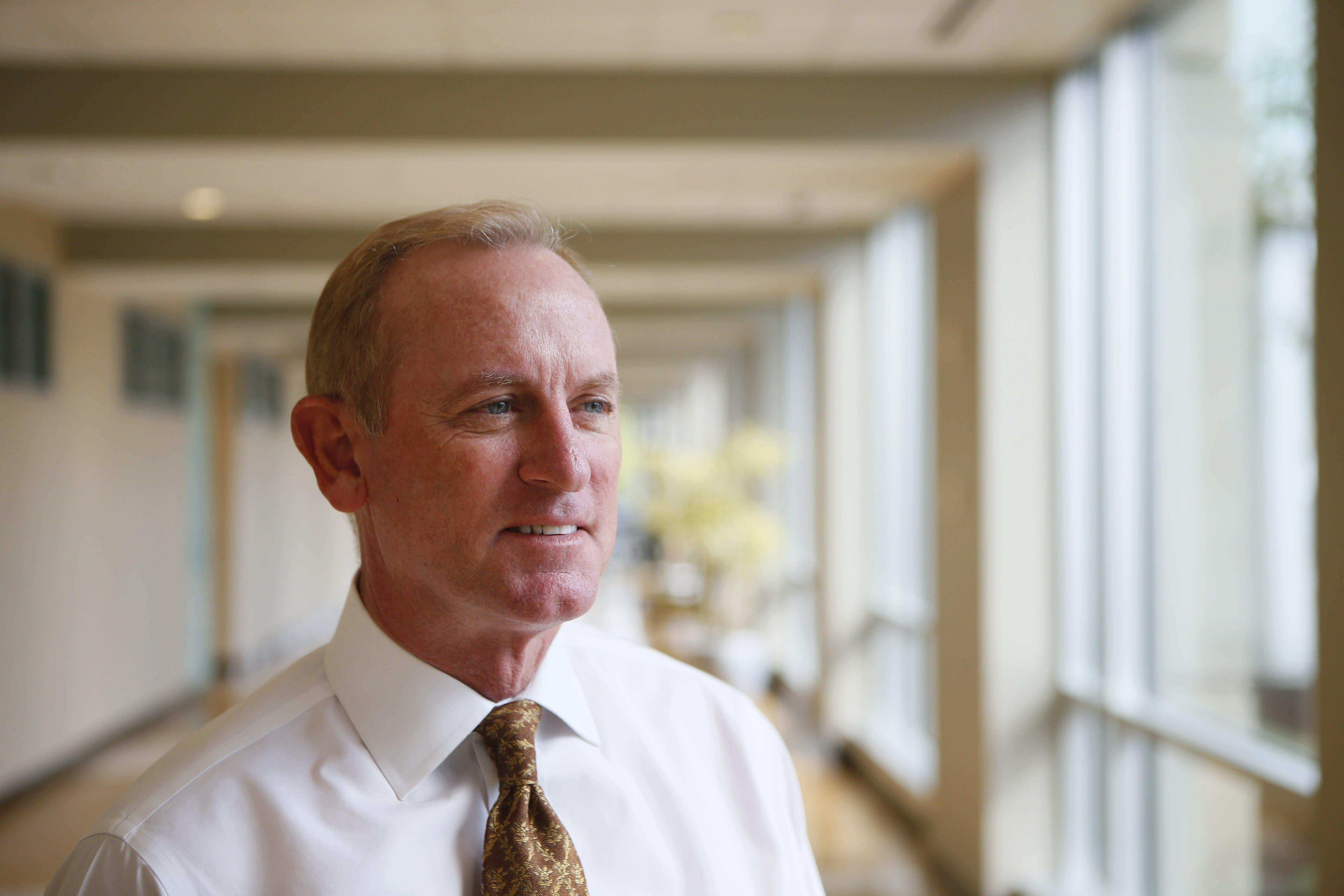 David Anderson, CEO of BlueCross BlueShield of WNY, Monday, Sept. 9, 2013.   (Derek Gee/Buffalo News)