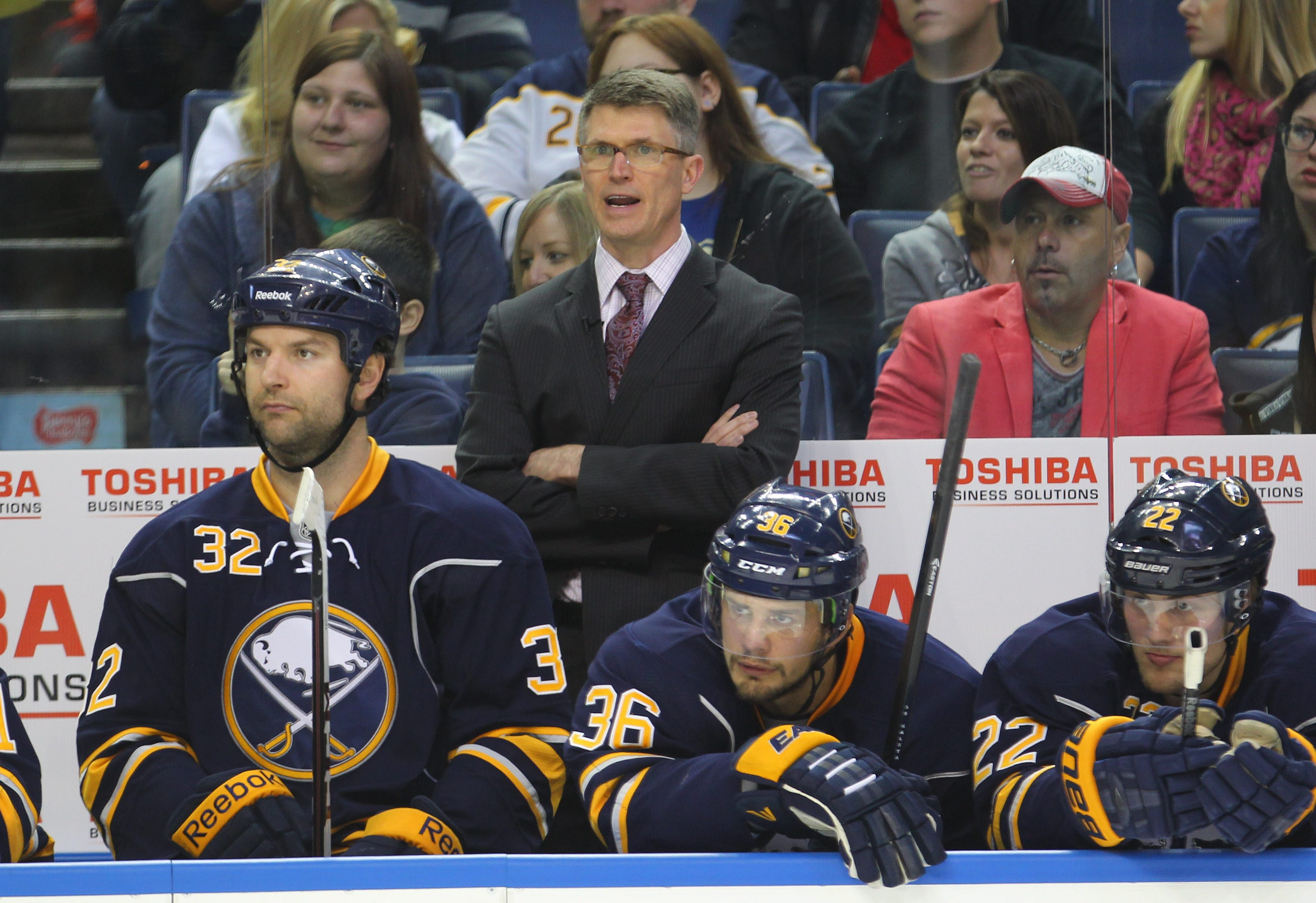 """Sabres coach Ron Rolston is called """"The Professor"""" for his comprehensive preparation and ability to help players improve through instruction."""