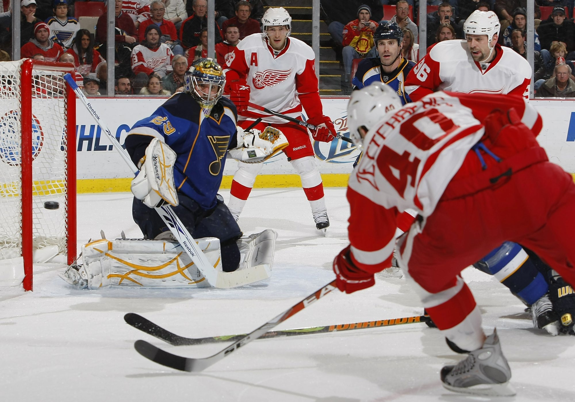 Henrik Zetterberg and his Detroit Red Wings teammates are now in the Atlantic Division with the Sabres under the NHL's realignment plan.