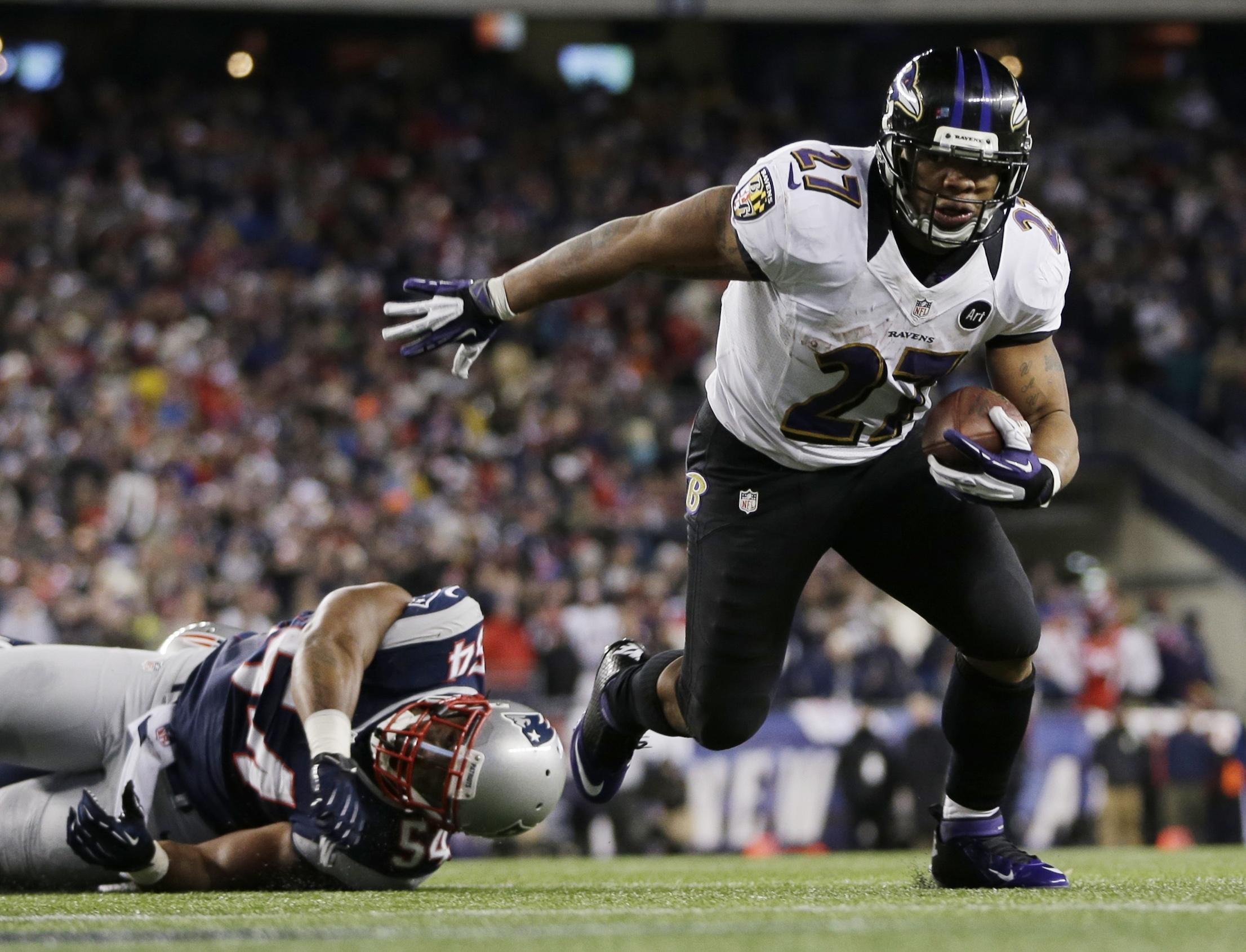 A strained hip flexor muscle has limited Ravens running back Ray Rice. (AP Photo/Matt Slocum)