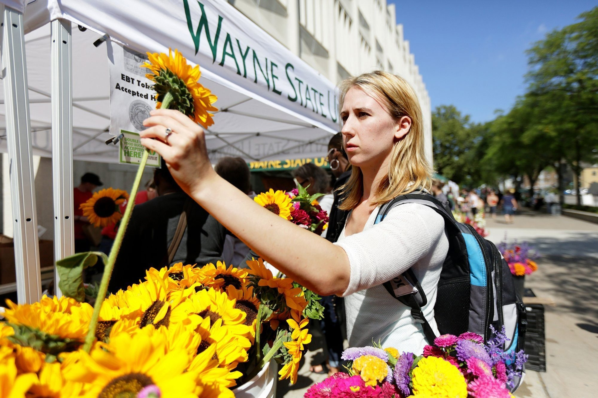 Katelyn Lietz, a senior majoring in mathematics at Wayne State University, said she might be able to get a break with the federal public service loan forgiveness program on about $40,000 in student debt if she found a job as a teacher.