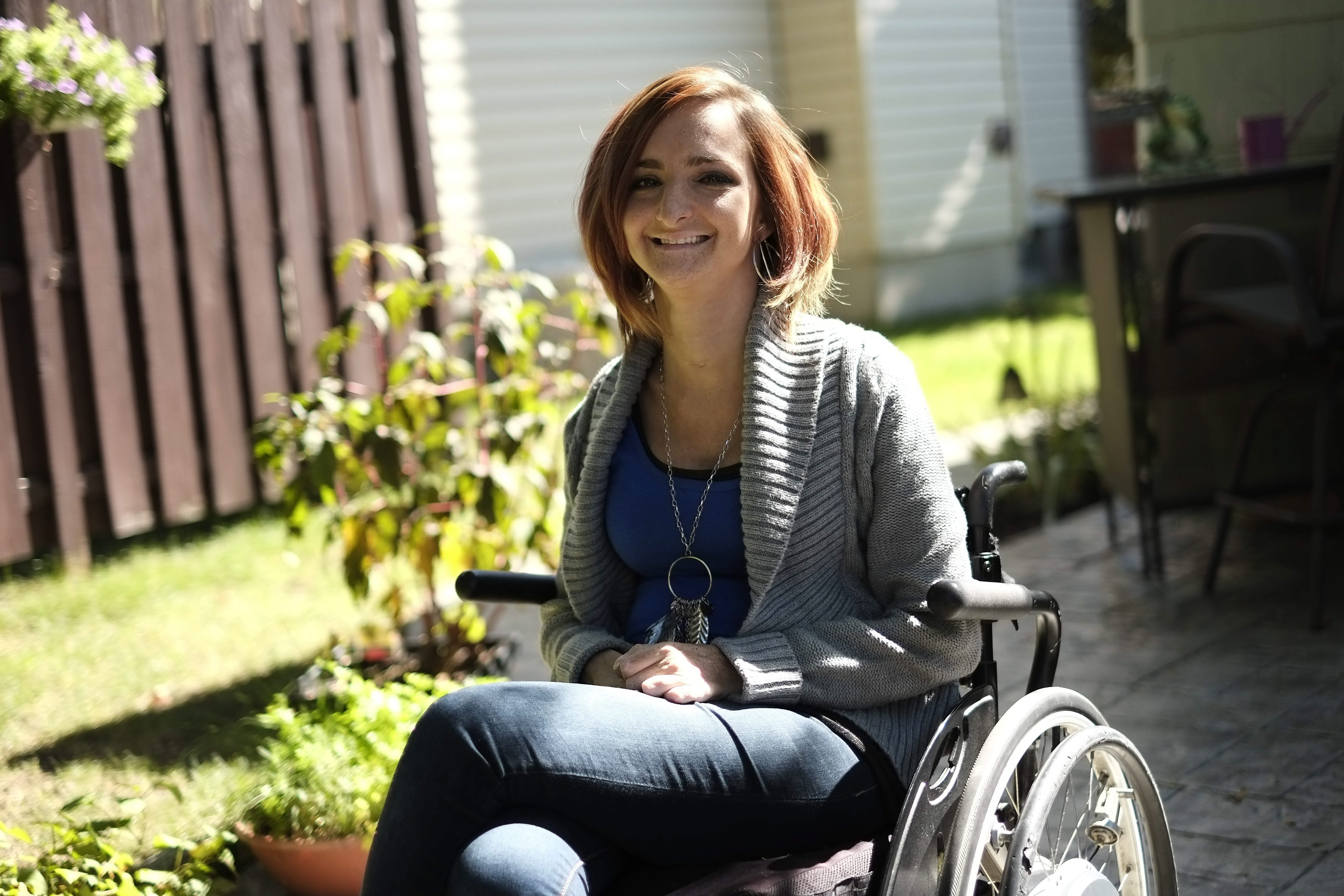 Natalie Barnhard, whose spinal cord was severely injured in 2004, leads Wheels With Wings Foundation to help others who suffer the same. One goal is for a rehabilitation and support center to be built.